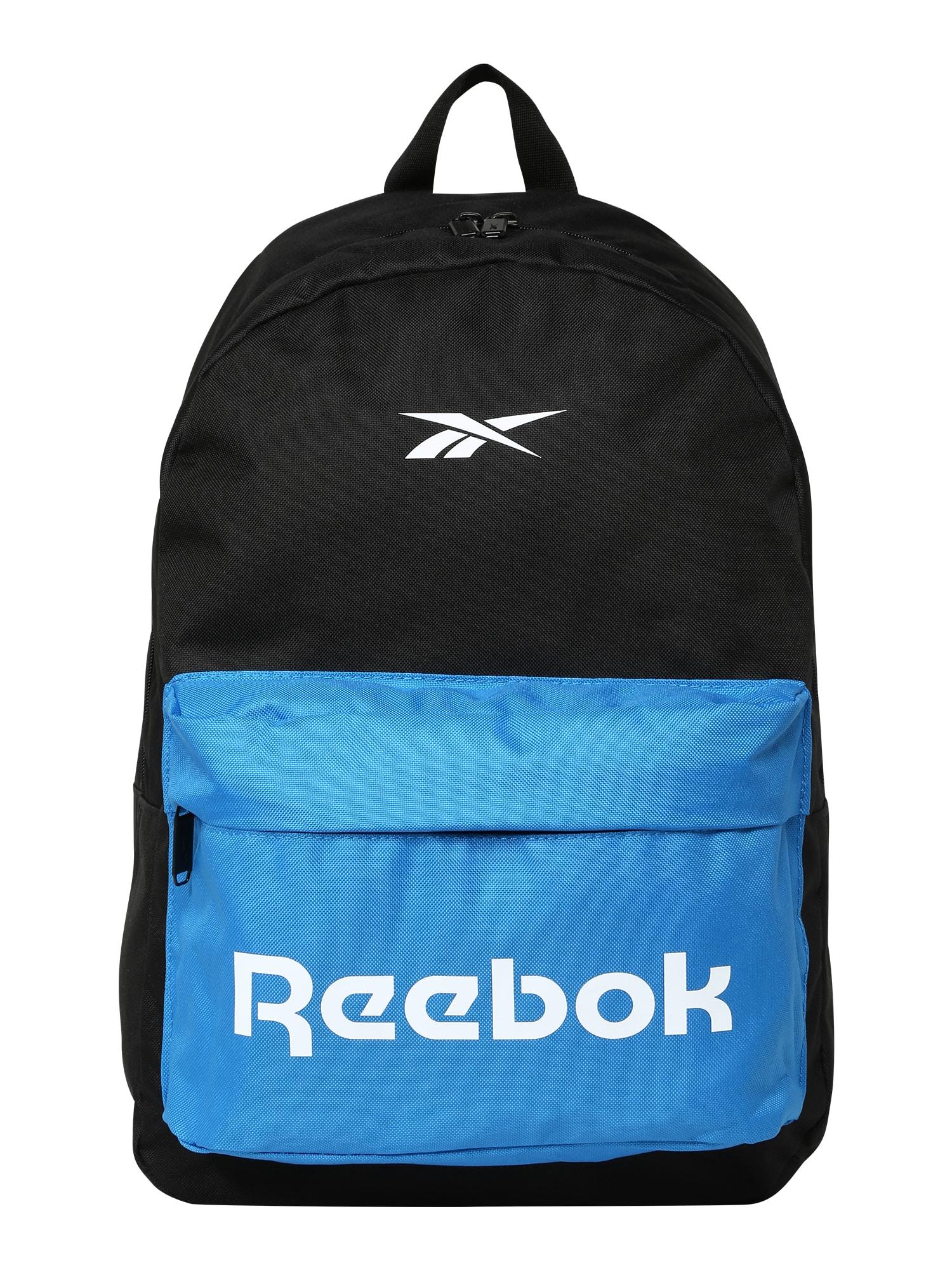 REEBOK Sportinė kuprinė mėlyna / juoda