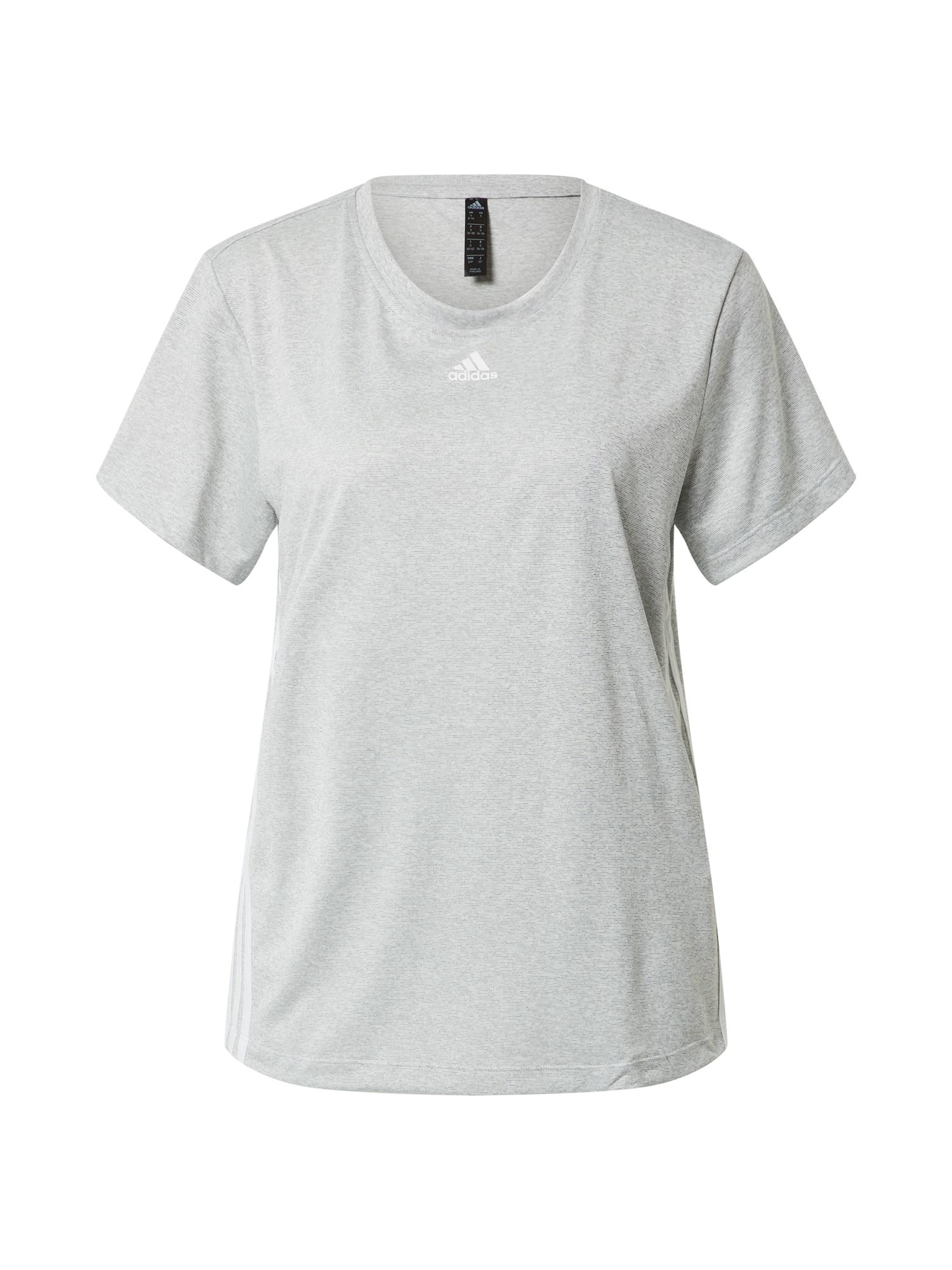 ADIDAS PERFORMANCE Sportiniai marškinėliai balta / margai pilka