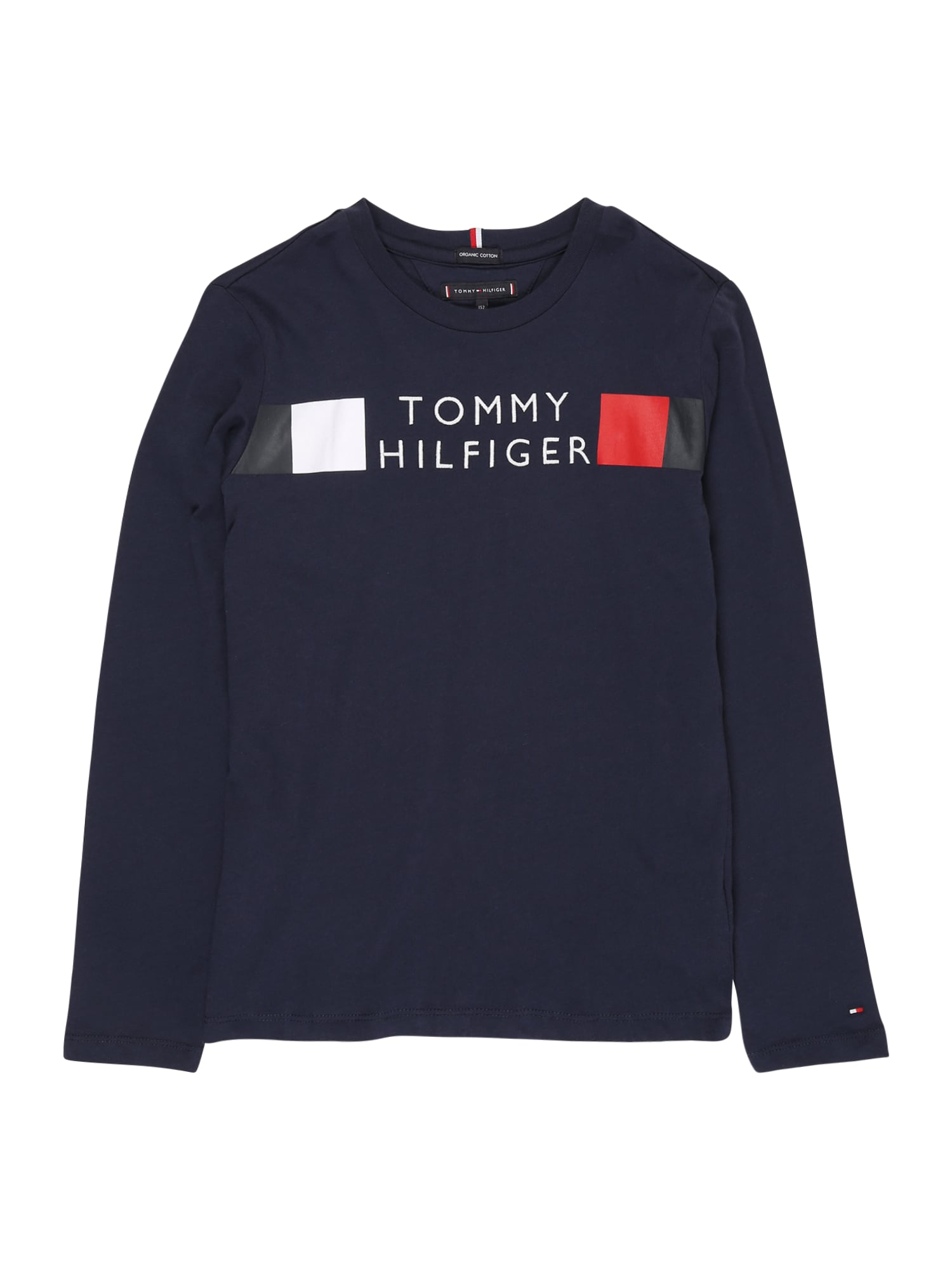 TOMMY HILFIGER Tričko 'GLOBAL'  námořnická modř / bílá / červená