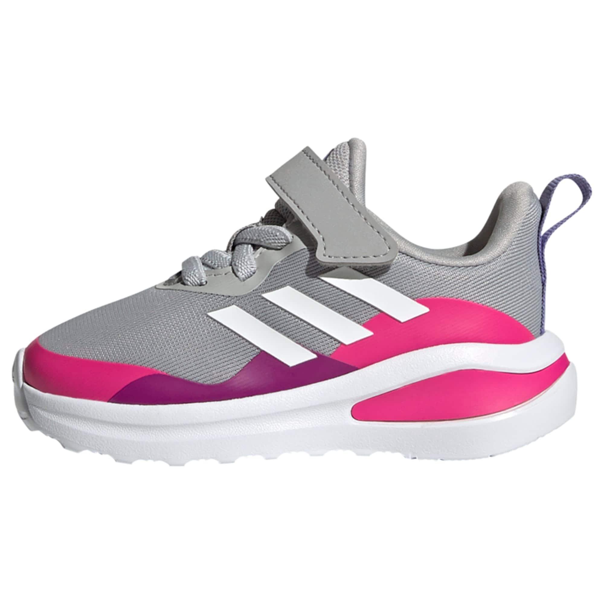 ADIDAS PERFORMANCE Sportiniai batai pilka / balta / fuksijų spalva / tamsiai violetinė
