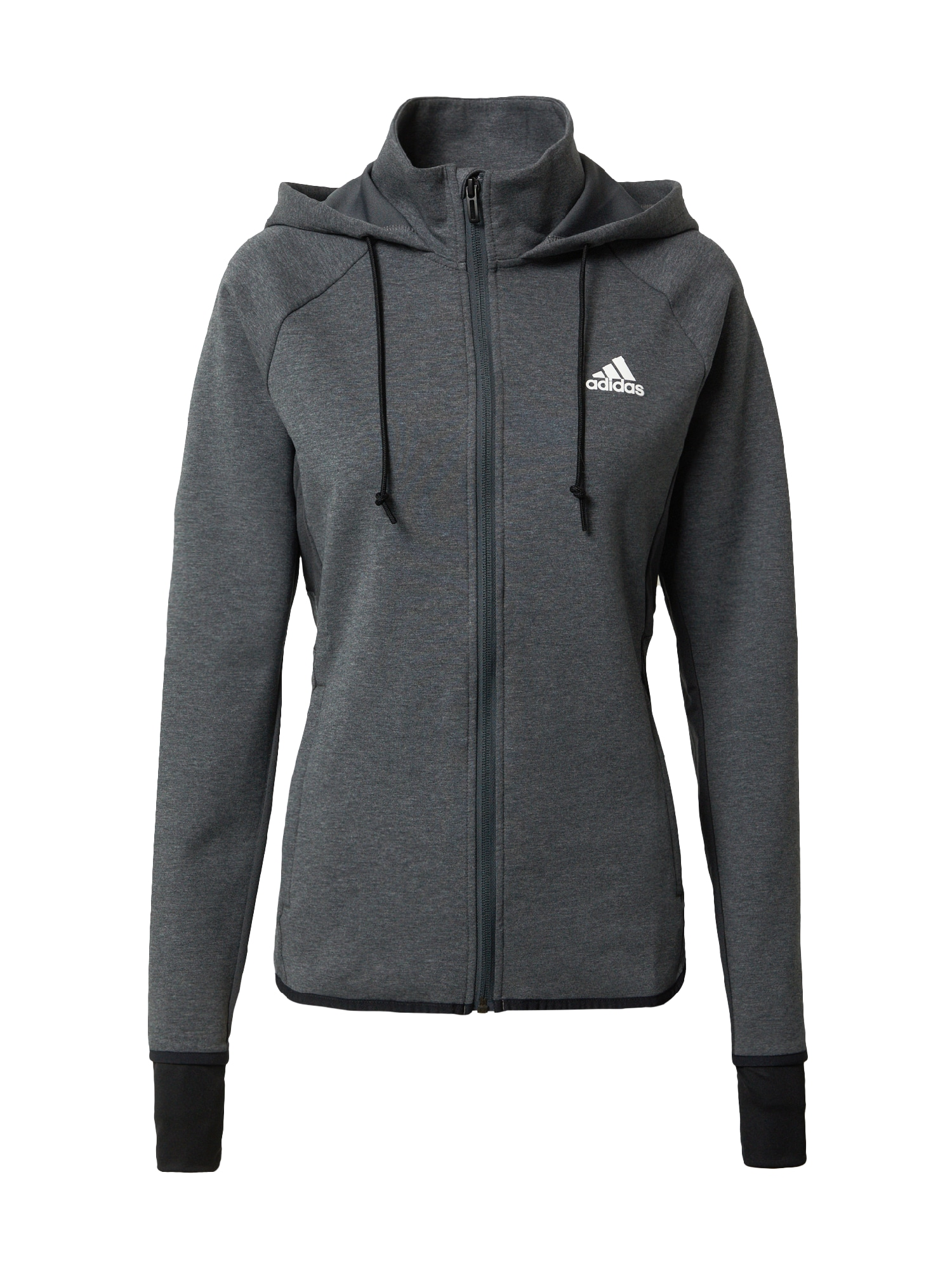 ADIDAS PERFORMANCE Sportinis džemperis balta / tamsiai pilka / juoda