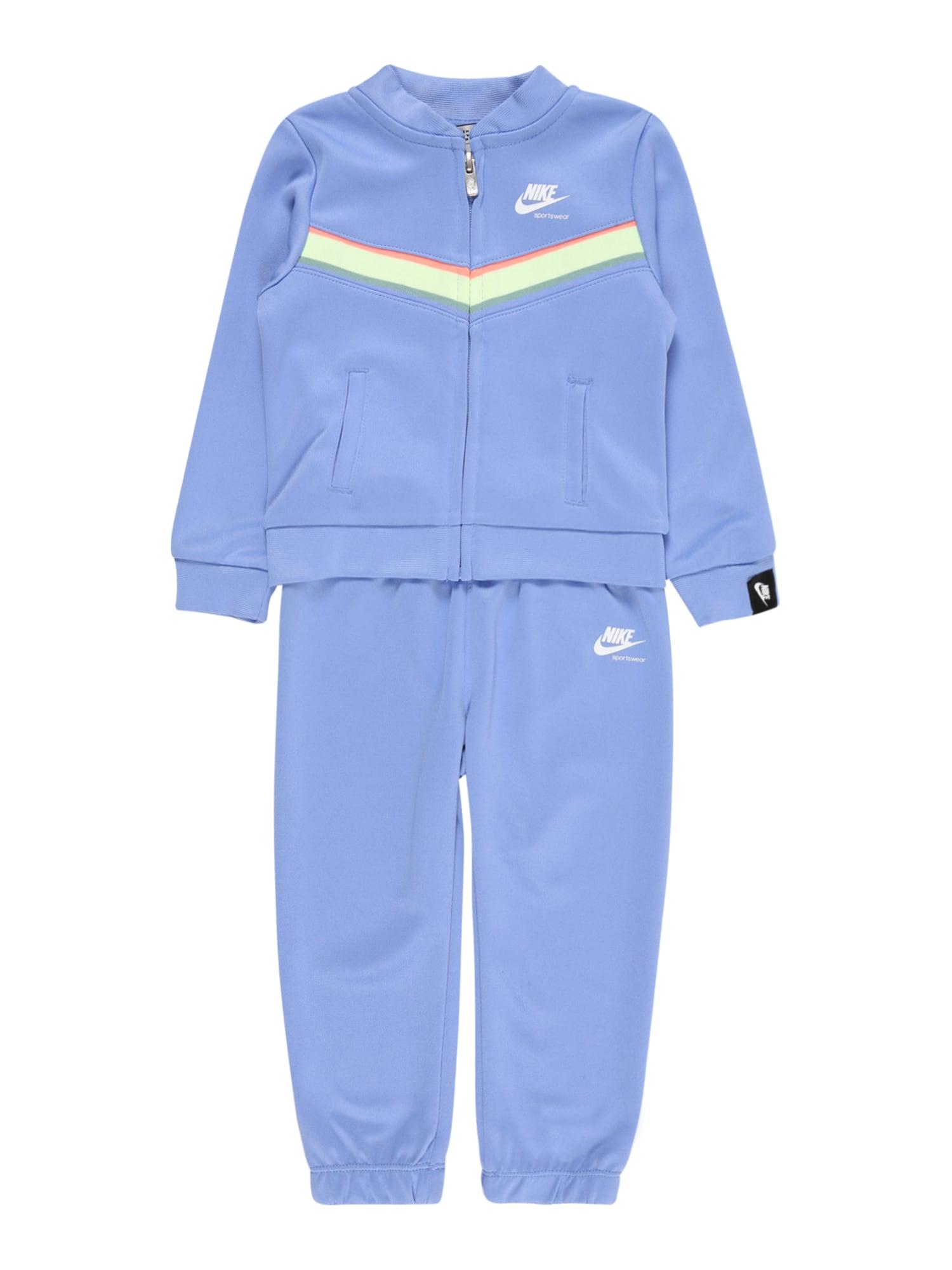 Nike Sportswear Treningas 'HERITAGE' šviesiai mėlyna / balta / šviesiai rožinė