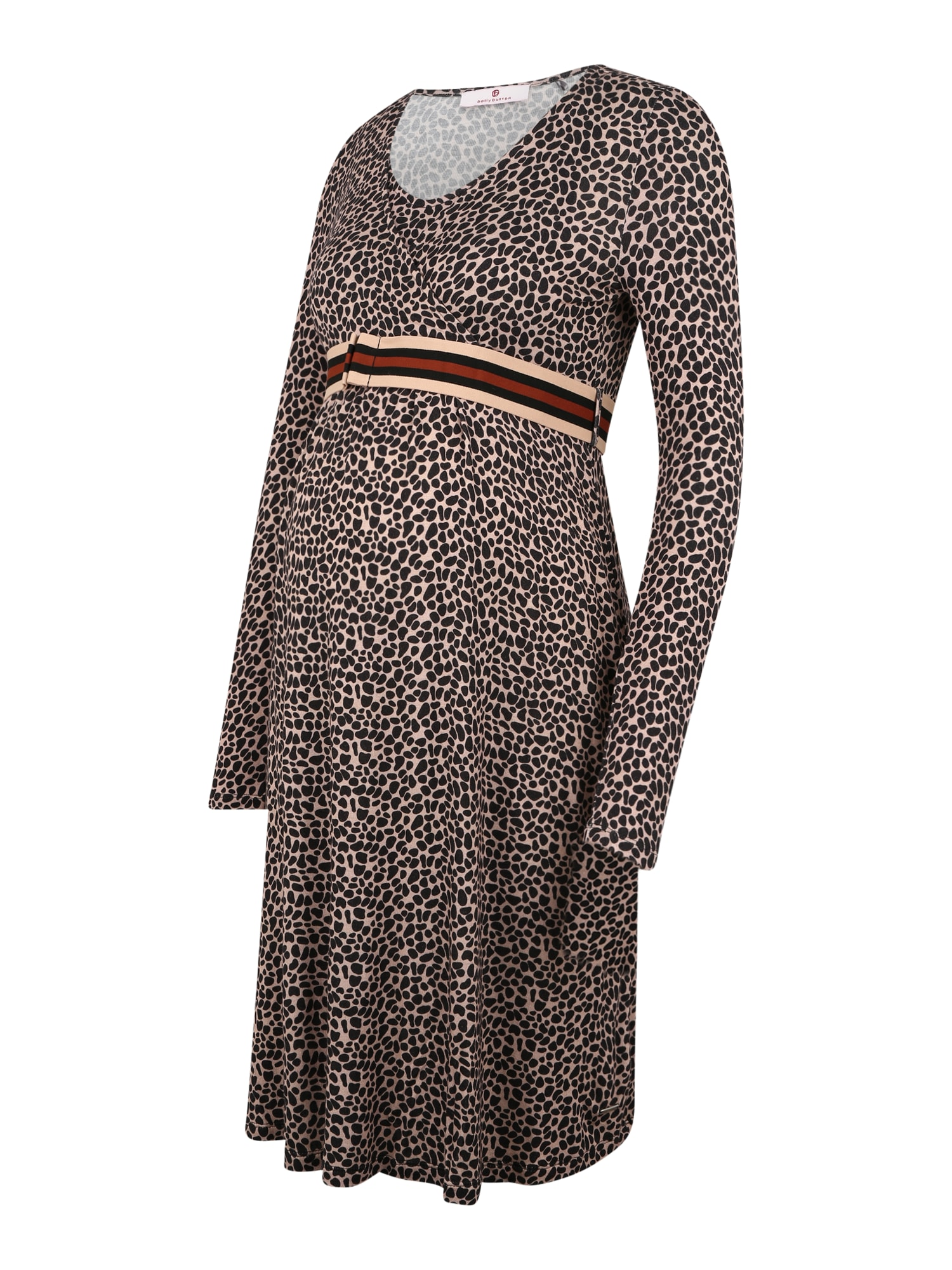 BELLYBUTTON Suknelė ryškiai rožinė spalva / juoda / rūdžių raudona / smėlio