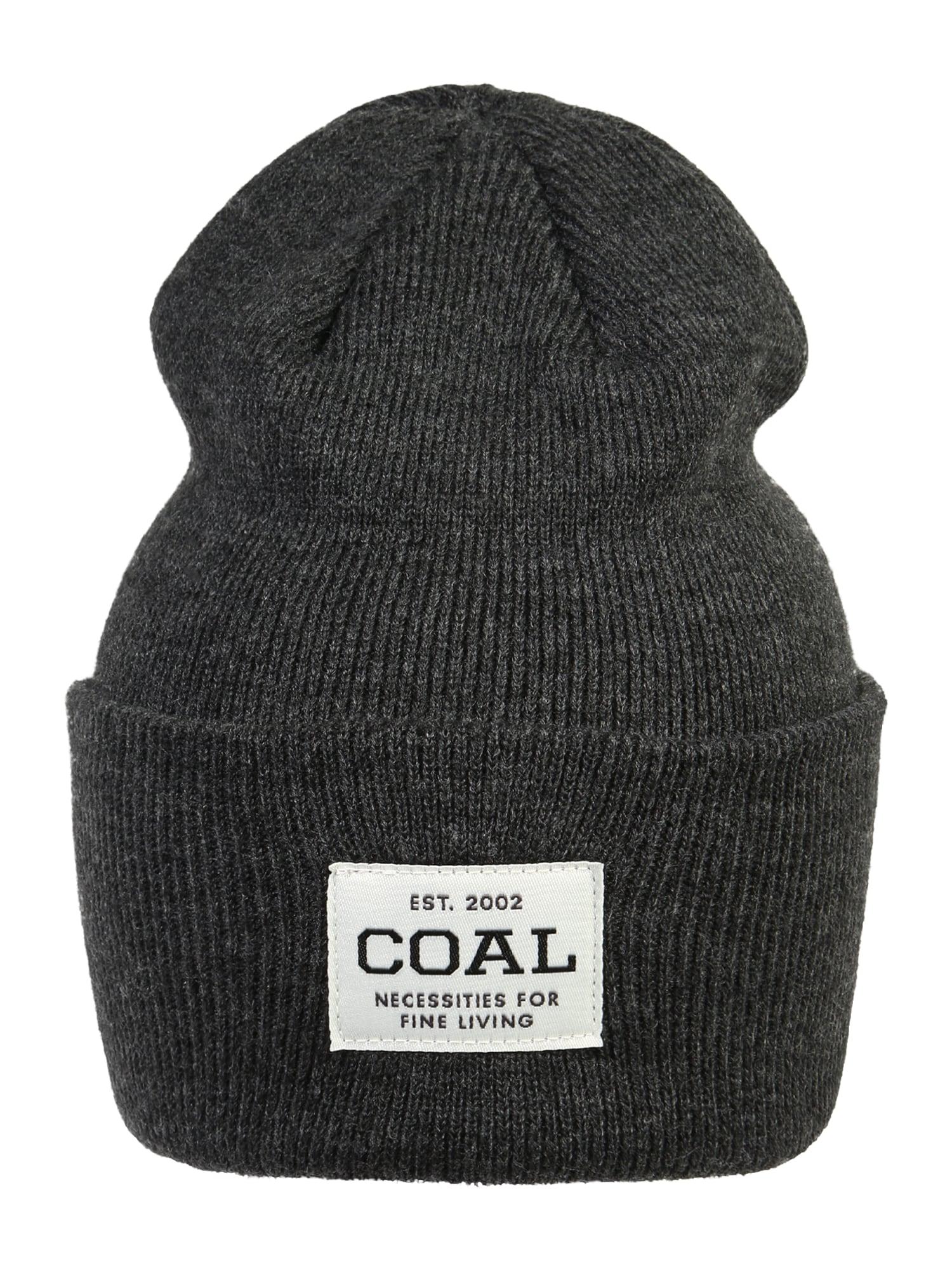 Coal Sportovní čepice  antracitová / bílá