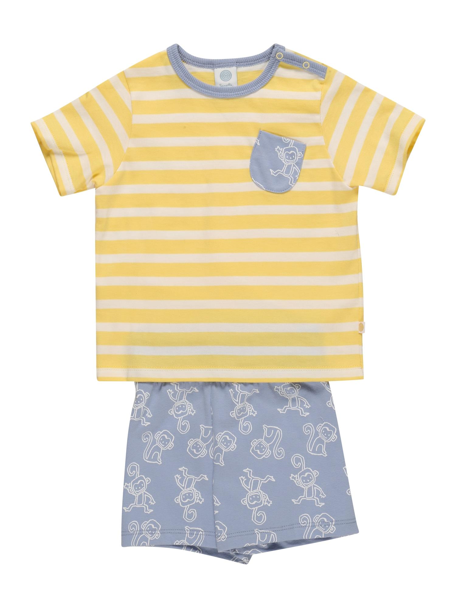 SANETTA Miego kostiumas geltona / šviesiai mėlyna