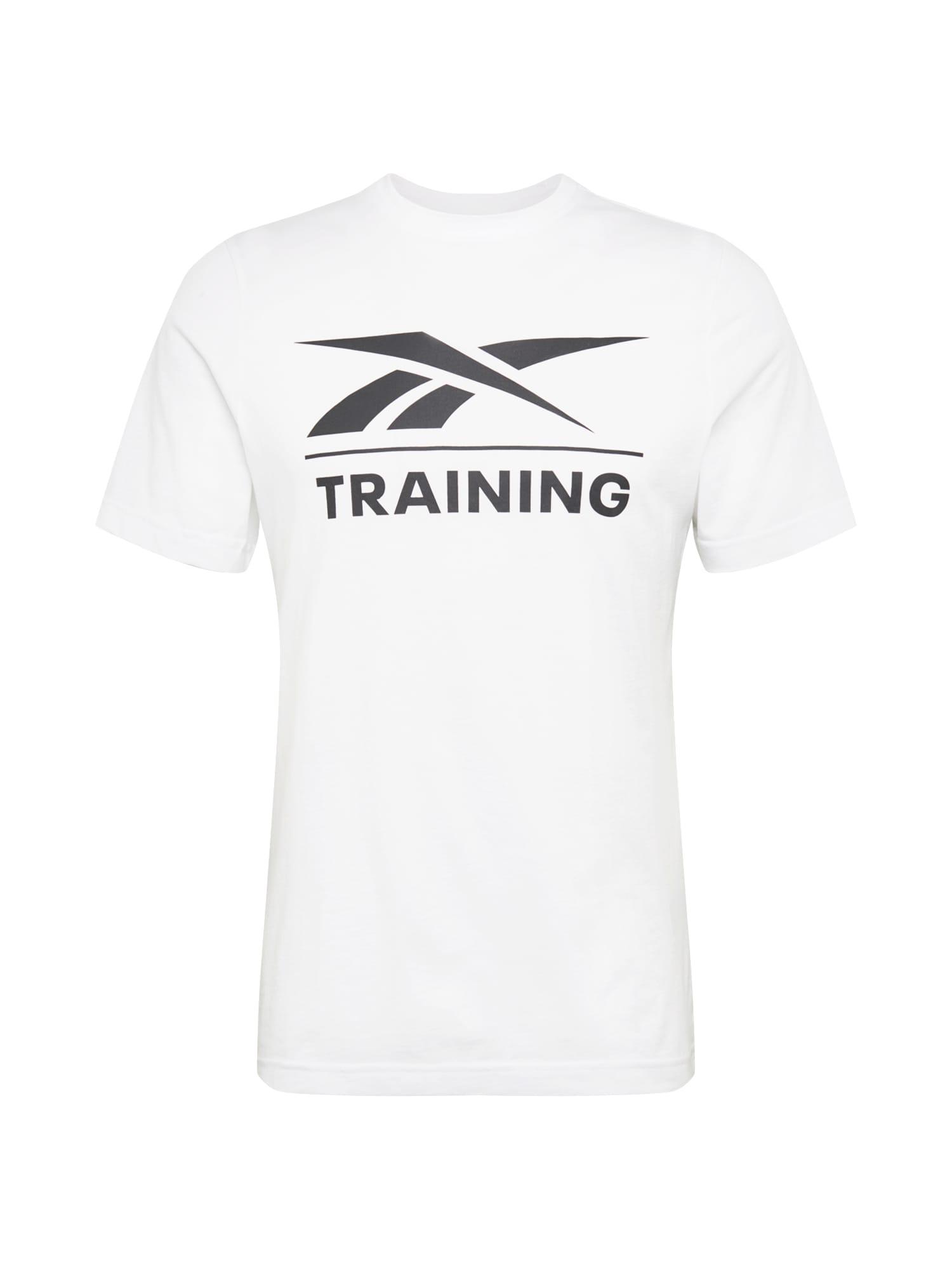 REEBOK Funkční tričko  bílá / černá