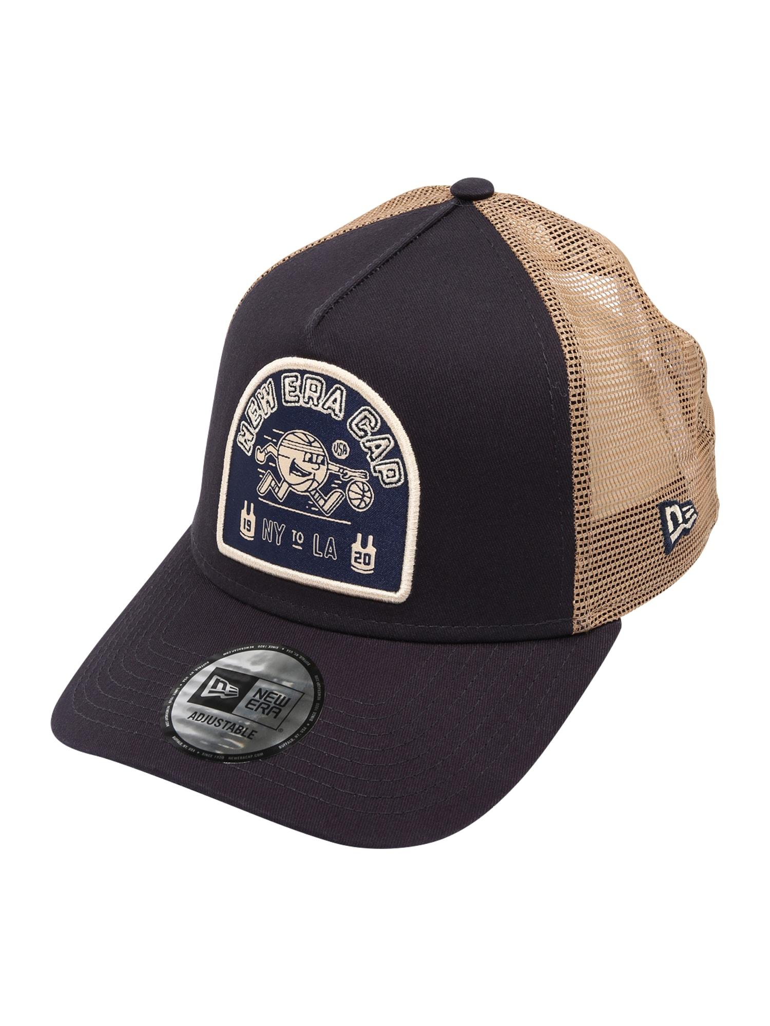 NEW ERA Kepurė juoda / gelsvai pilka spalva