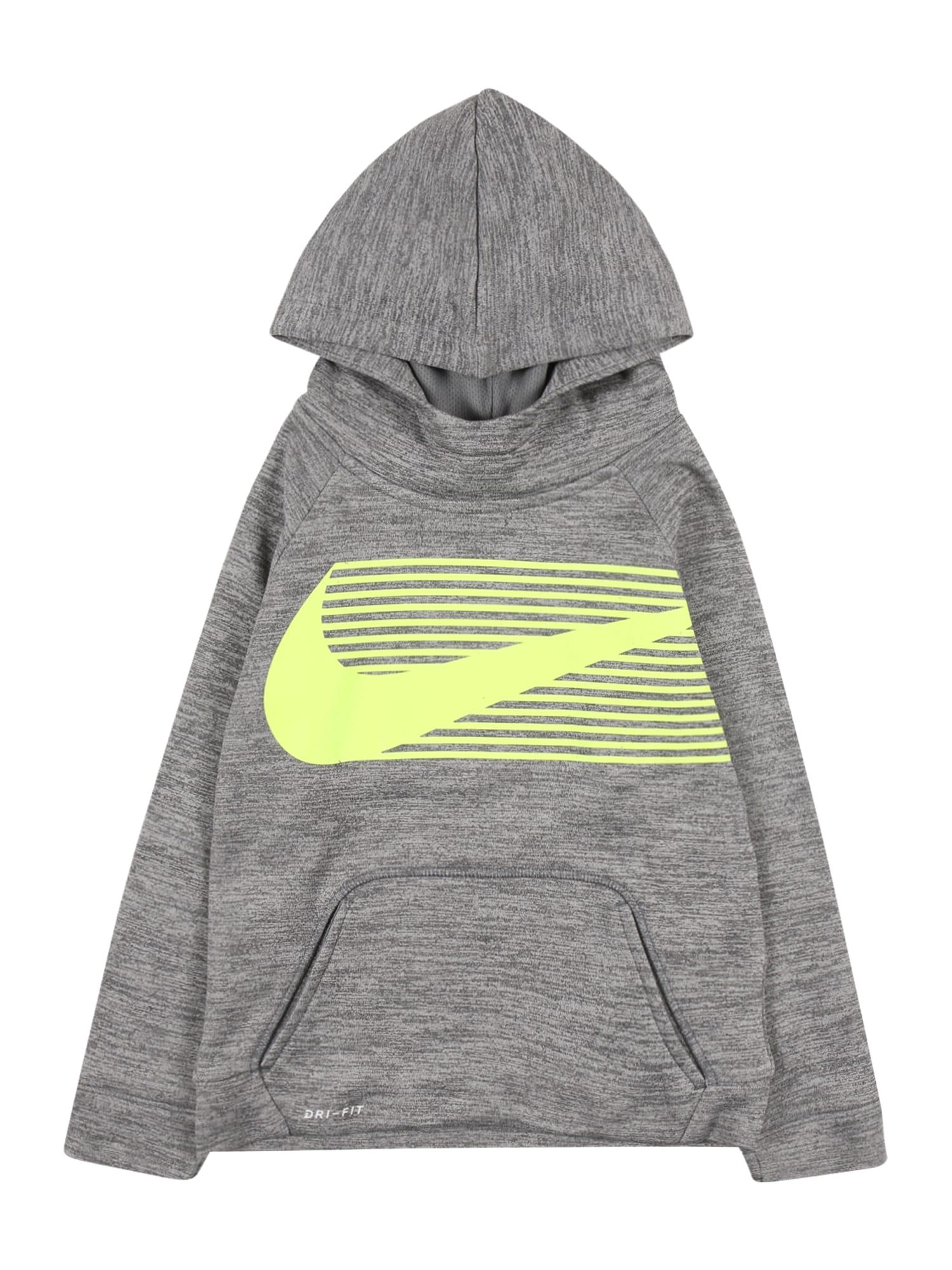 Nike Sportswear Megztinis be užsegimo margai pilka / šviesiai geltona