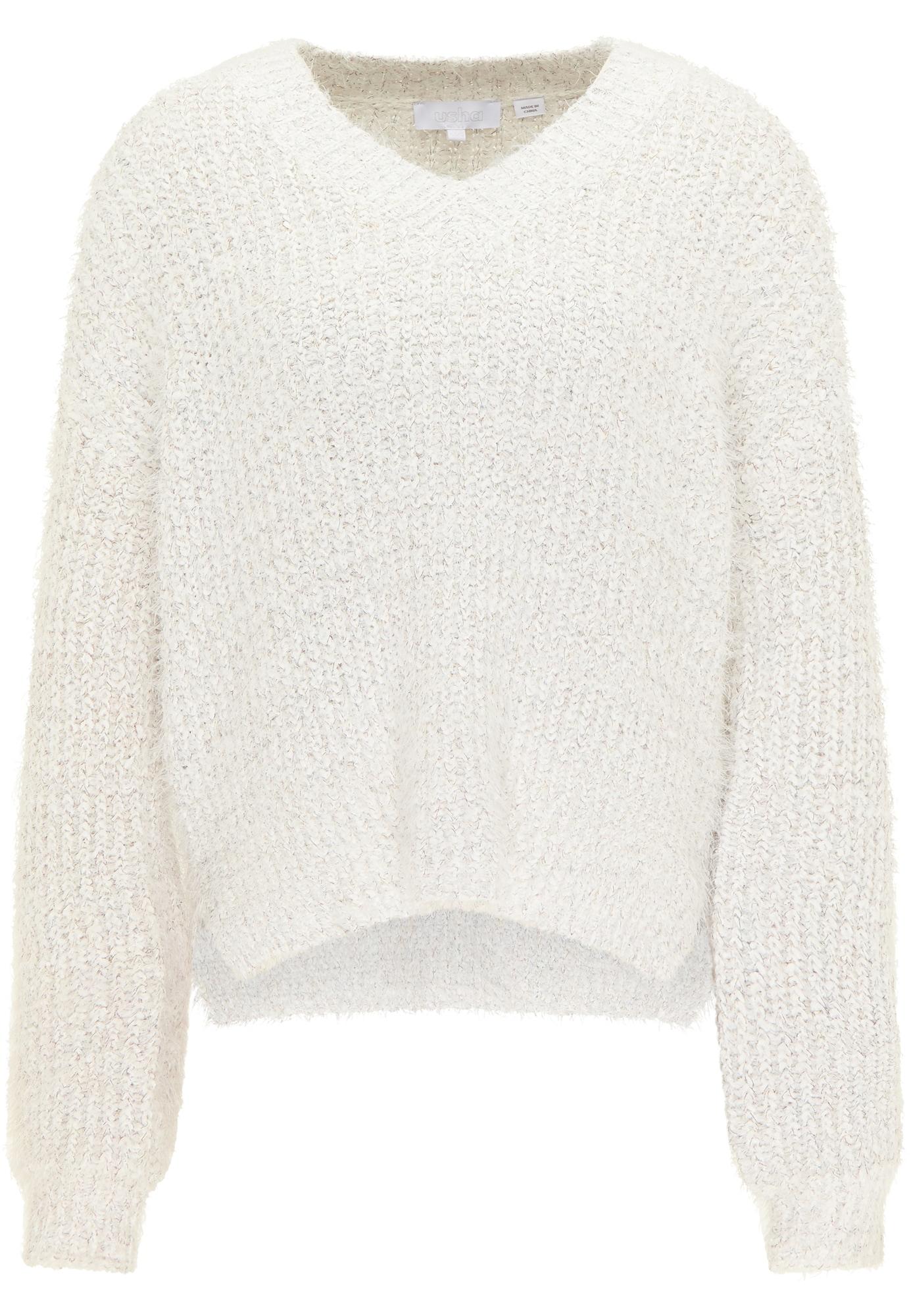 usha WHITE LABEL Megztinis balta