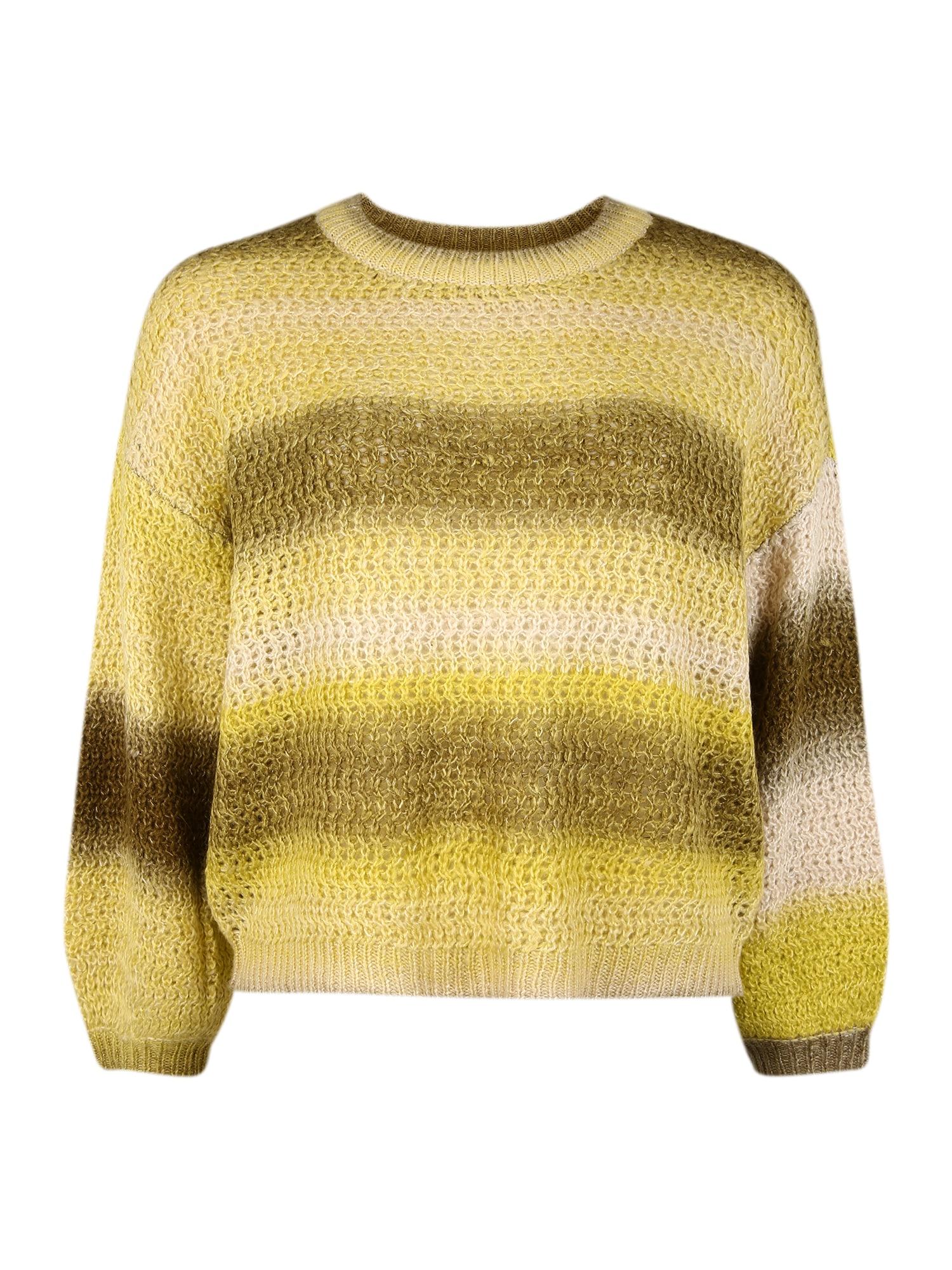 Vero Moda Curve Svetr  žlutá / mix barev