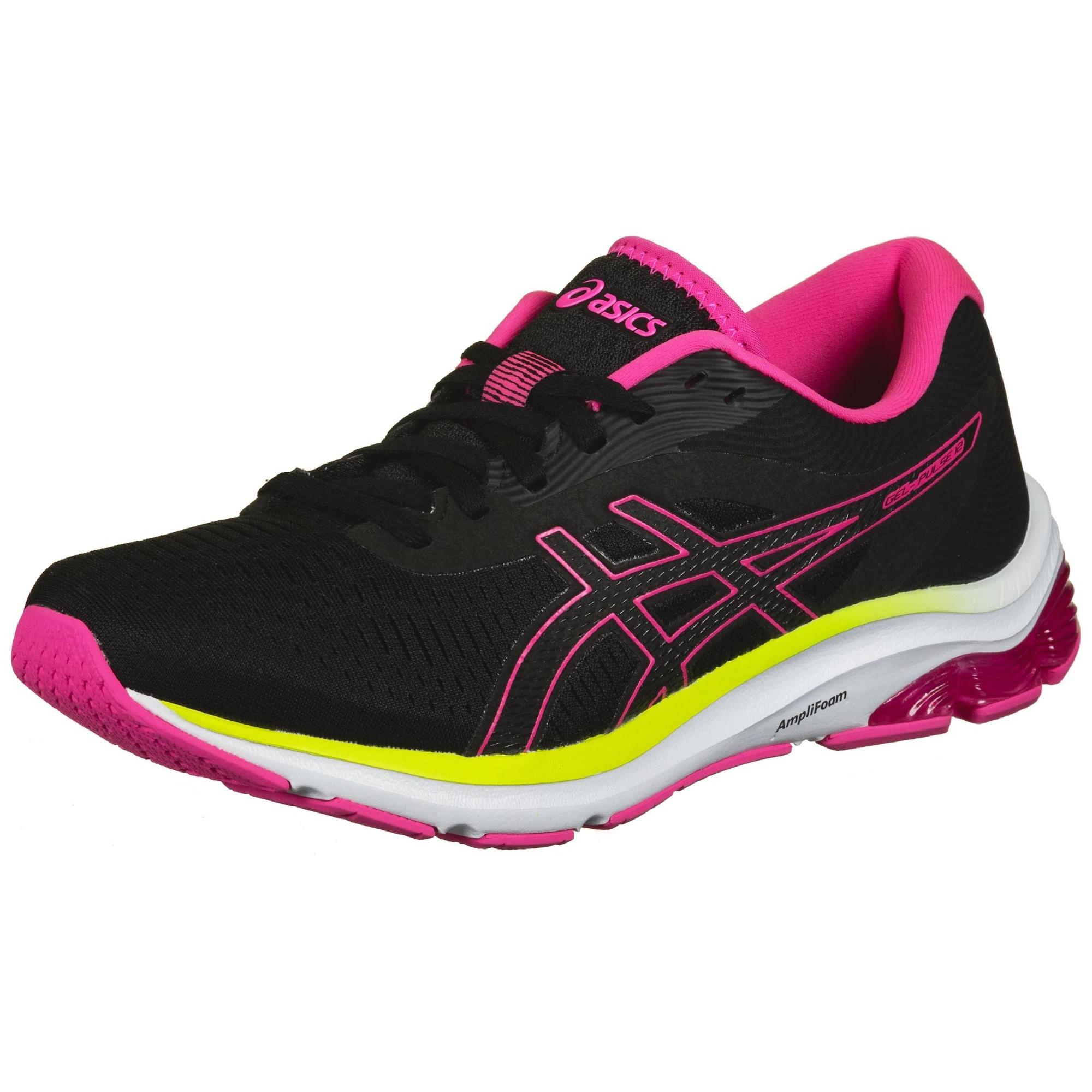 ASICS Bėgimo batai juoda / rožinė / geltona