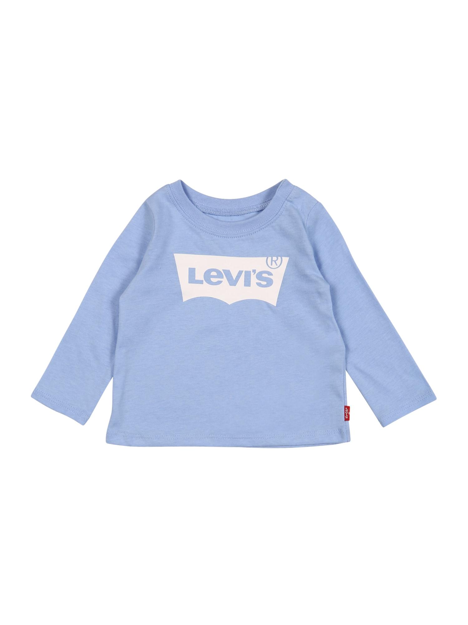 LEVI'S Marškinėliai šviesiai mėlyna / balta