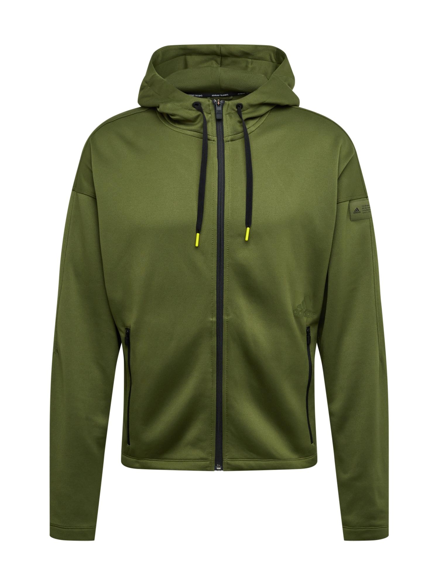 ADIDAS PERFORMANCE Sportinis džemperis rusvai žalia