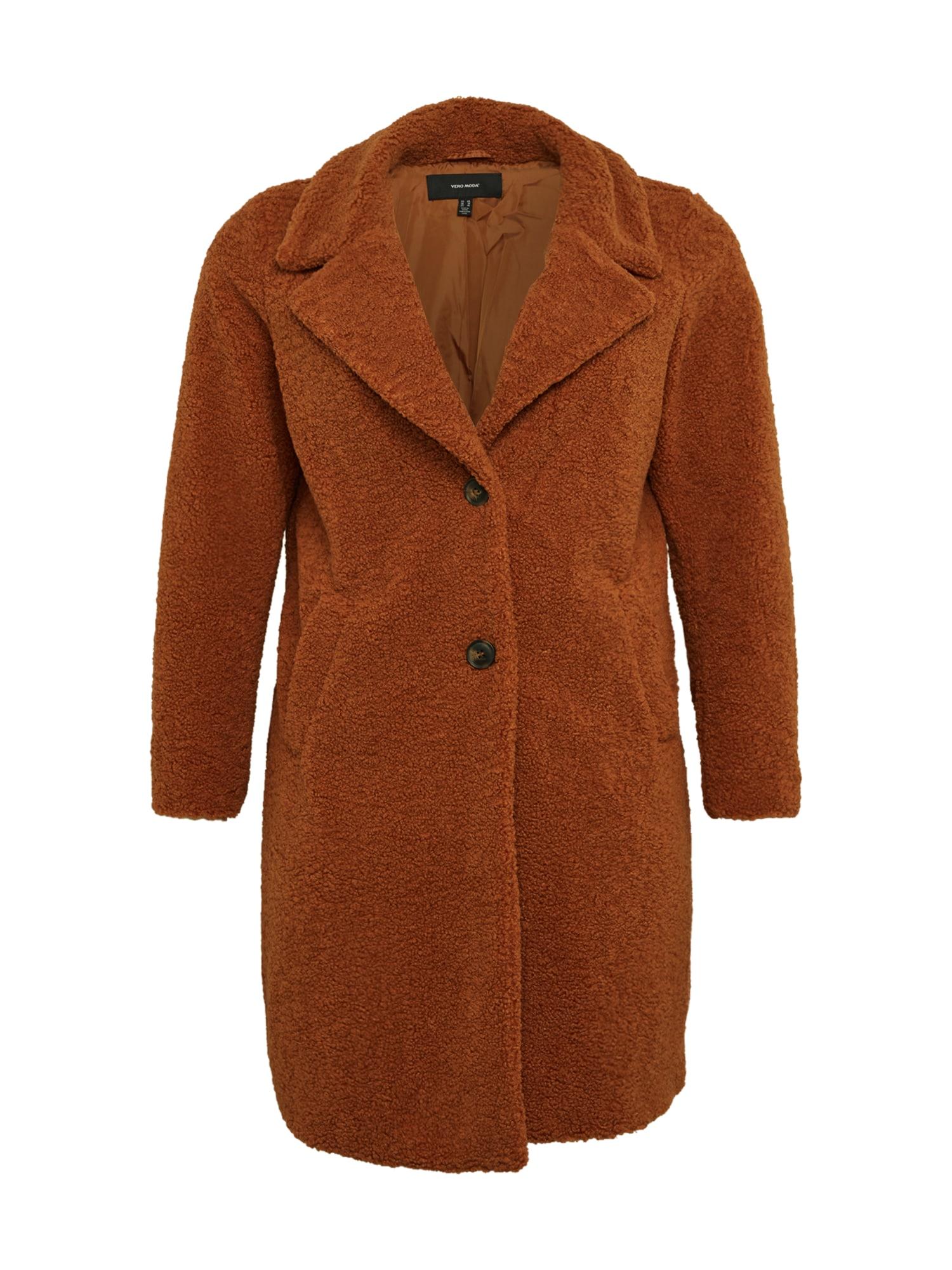 Vero Moda Curve Demisezoninis paltas ruda (konjako)