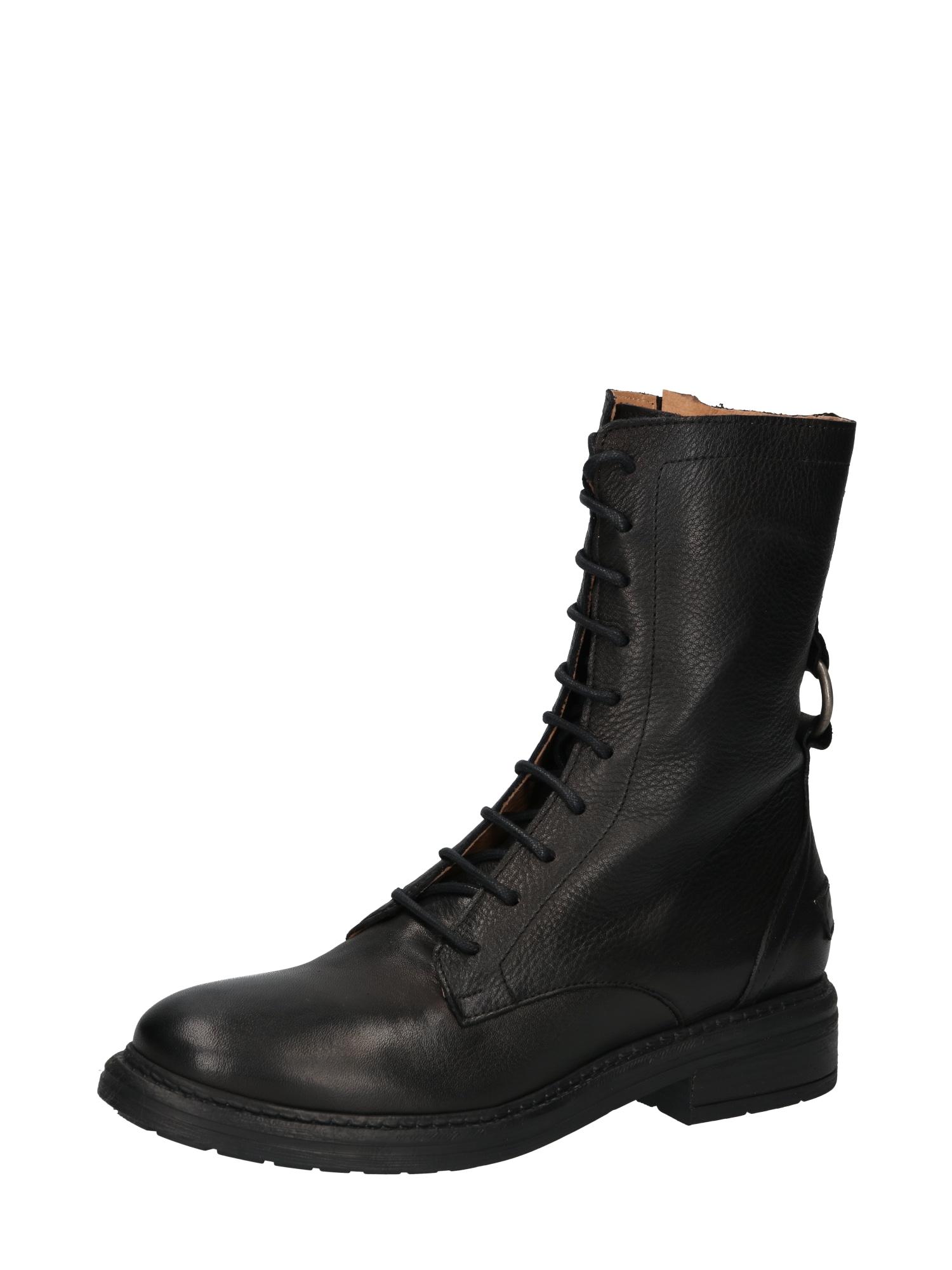 SHABBIES AMSTERDAM Suvarstomieji kulkšnis dengiantys batai juoda