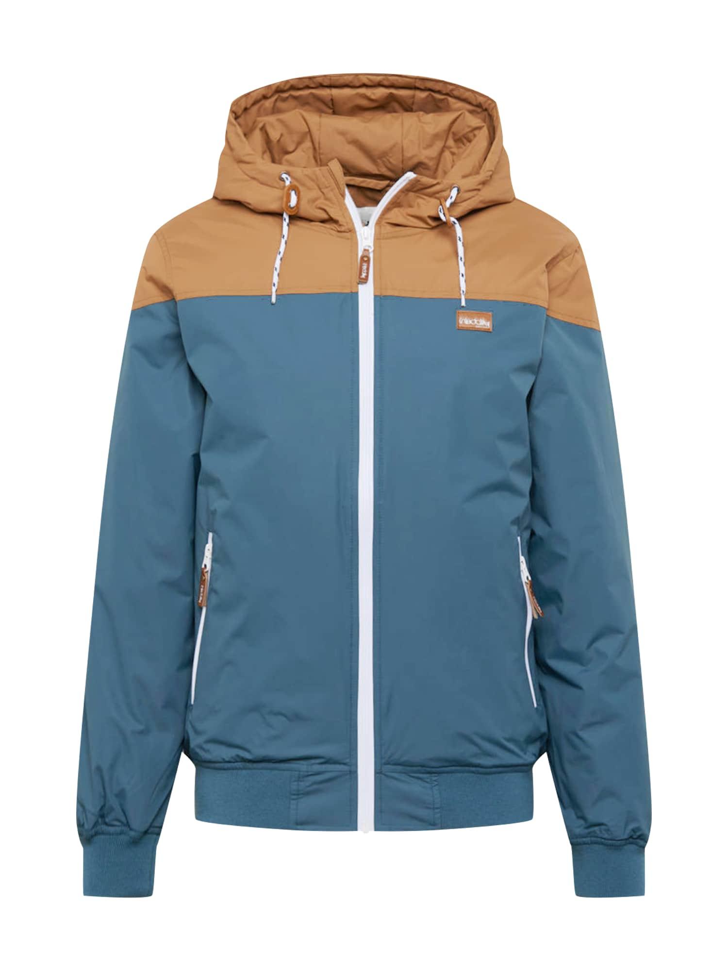Iriedaily Demisezoninė striukė mėlyna / šviesiai ruda