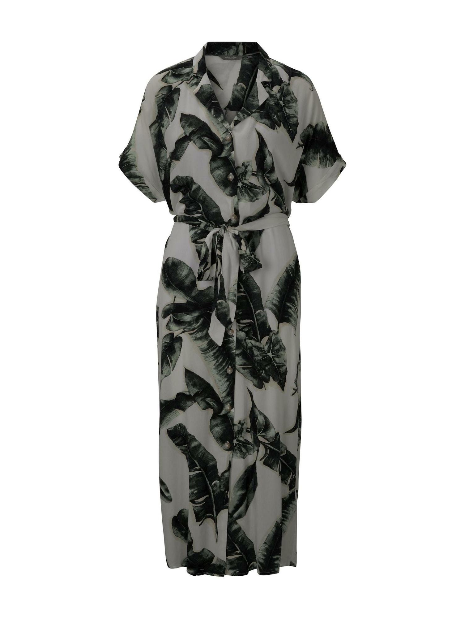 MINE TO FIVE Palaidinės tipo suknelė žalia / pilka