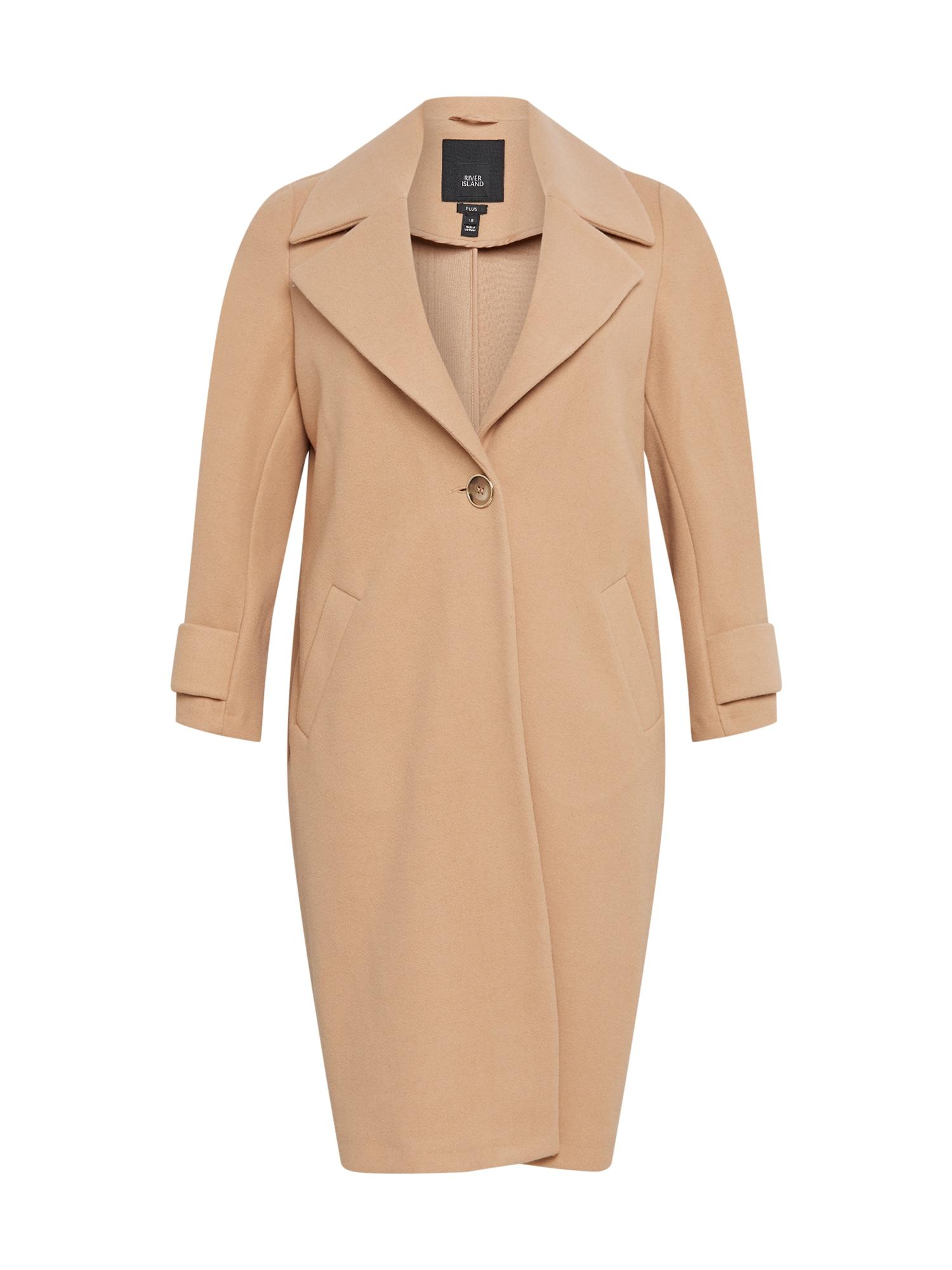 River Island Plus Demisezoninis paltas šviesiai ruda