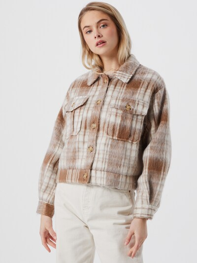 Selected Femme Gry kurze Karo-Shirtjacke