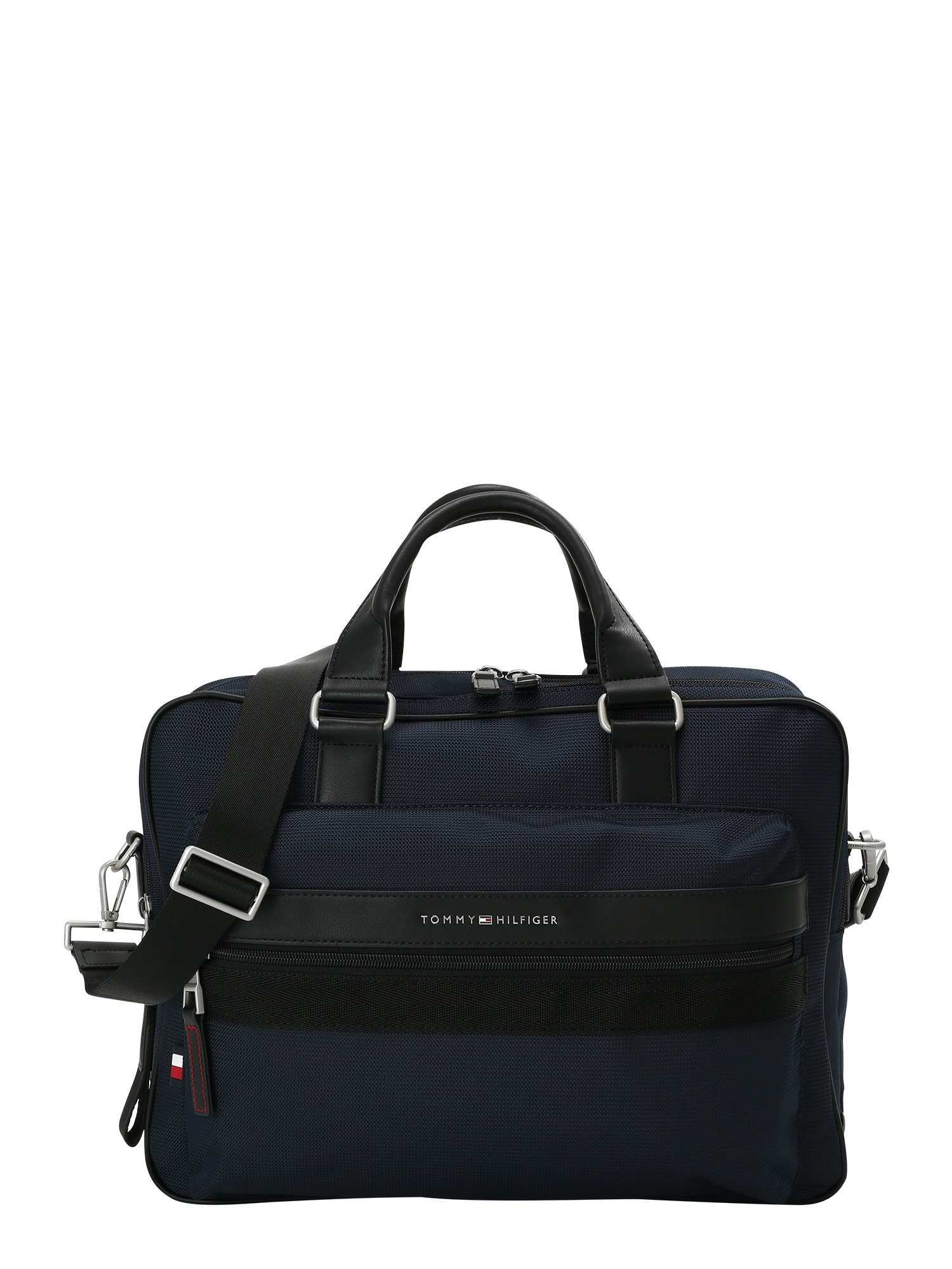 TOMMY HILFIGER Kelioninis krepšys tamsiai mėlyna / juoda