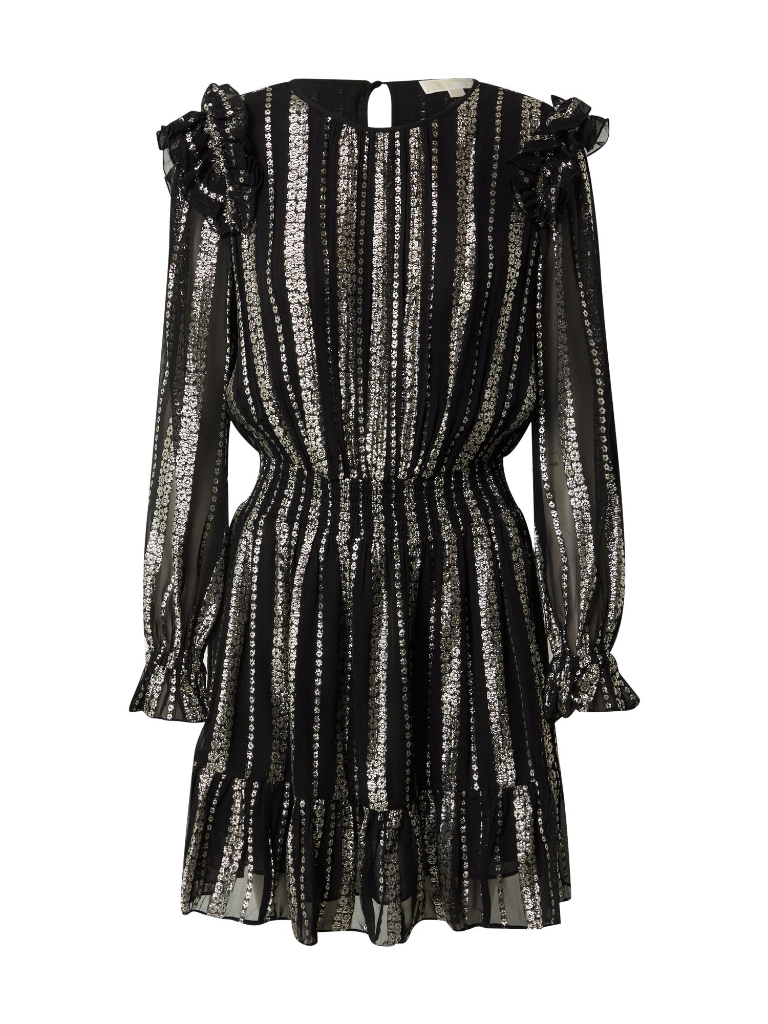 MICHAEL Michael Kors Kokteilinė suknelė sidabro pilka / juoda