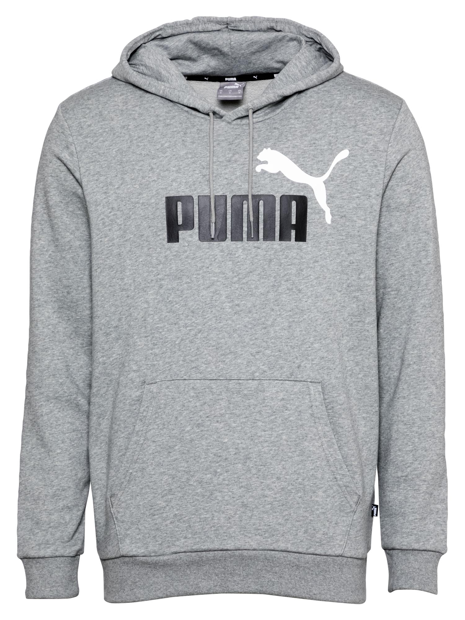 PUMA Sportinio tipo megztinis margai pilka / balta / juoda