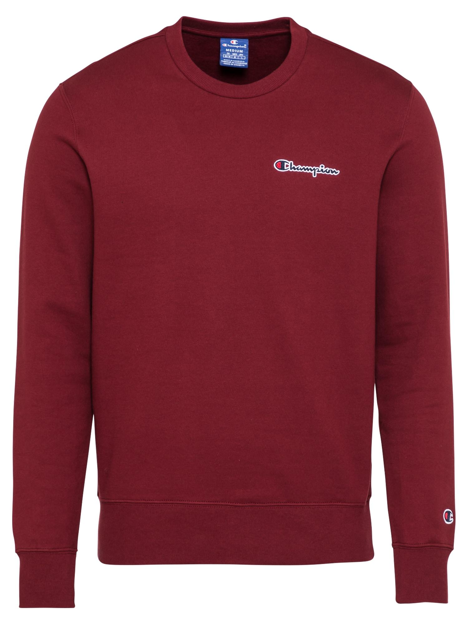 Champion Authentic Athletic Apparel Megztinis be užsegimo vyšninė spalva / balta / tamsiai mėlyna