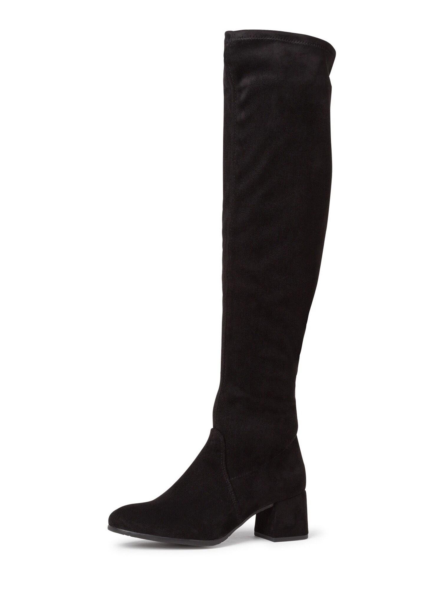 TAMARIS Ilgaauliai batai virš kelių juoda