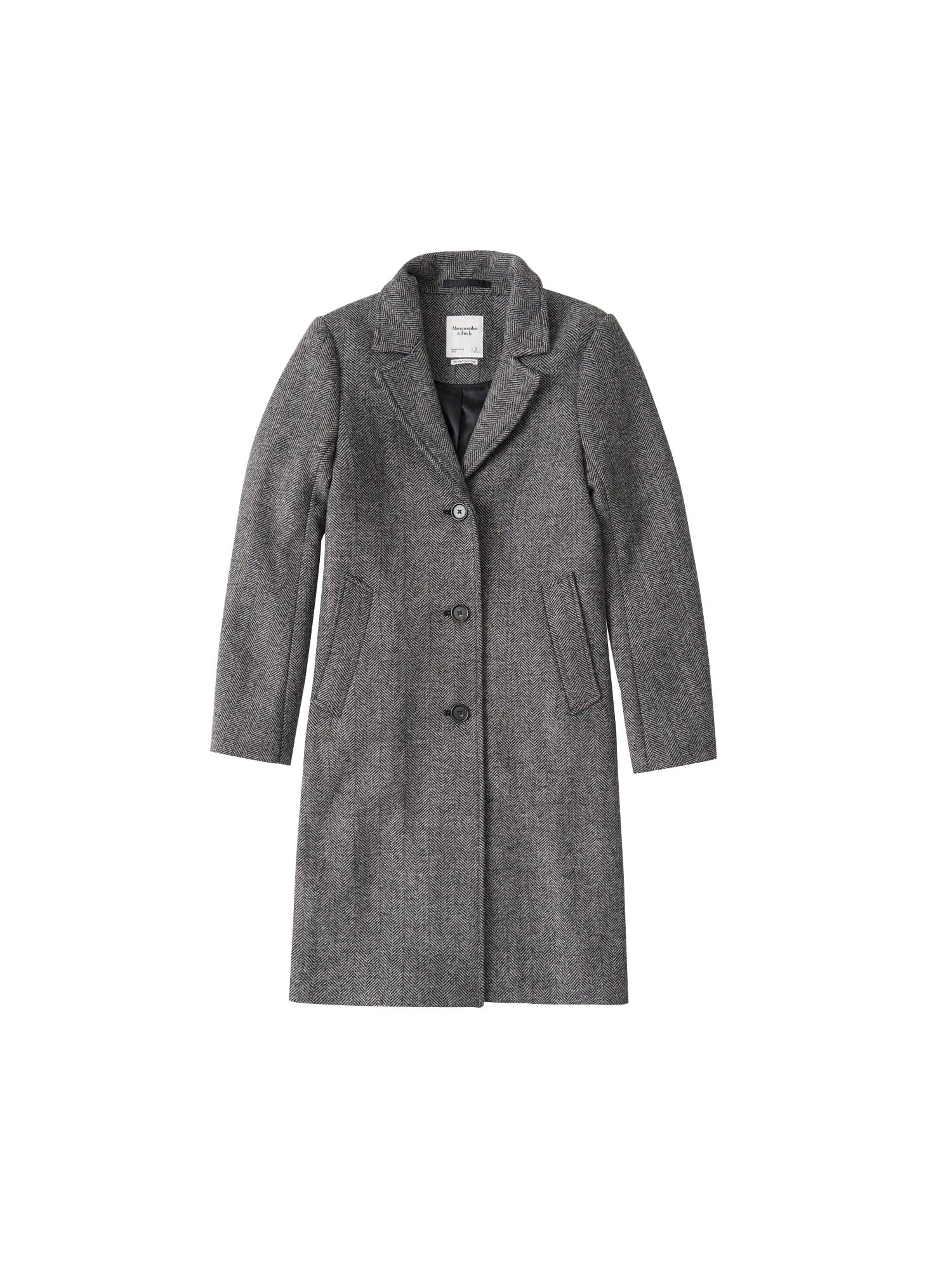 Abercrombie & Fitch Demisezoninis paltas juoda / pilka