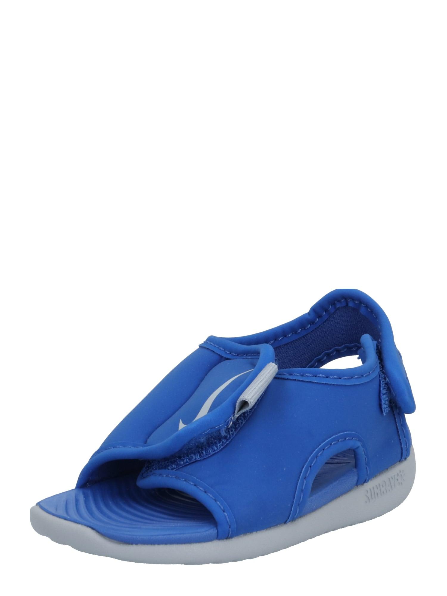 "NIKE Sandalai 'Sunray Adjust 5 V2' pilka / sodri mėlyna (""karališka"")"