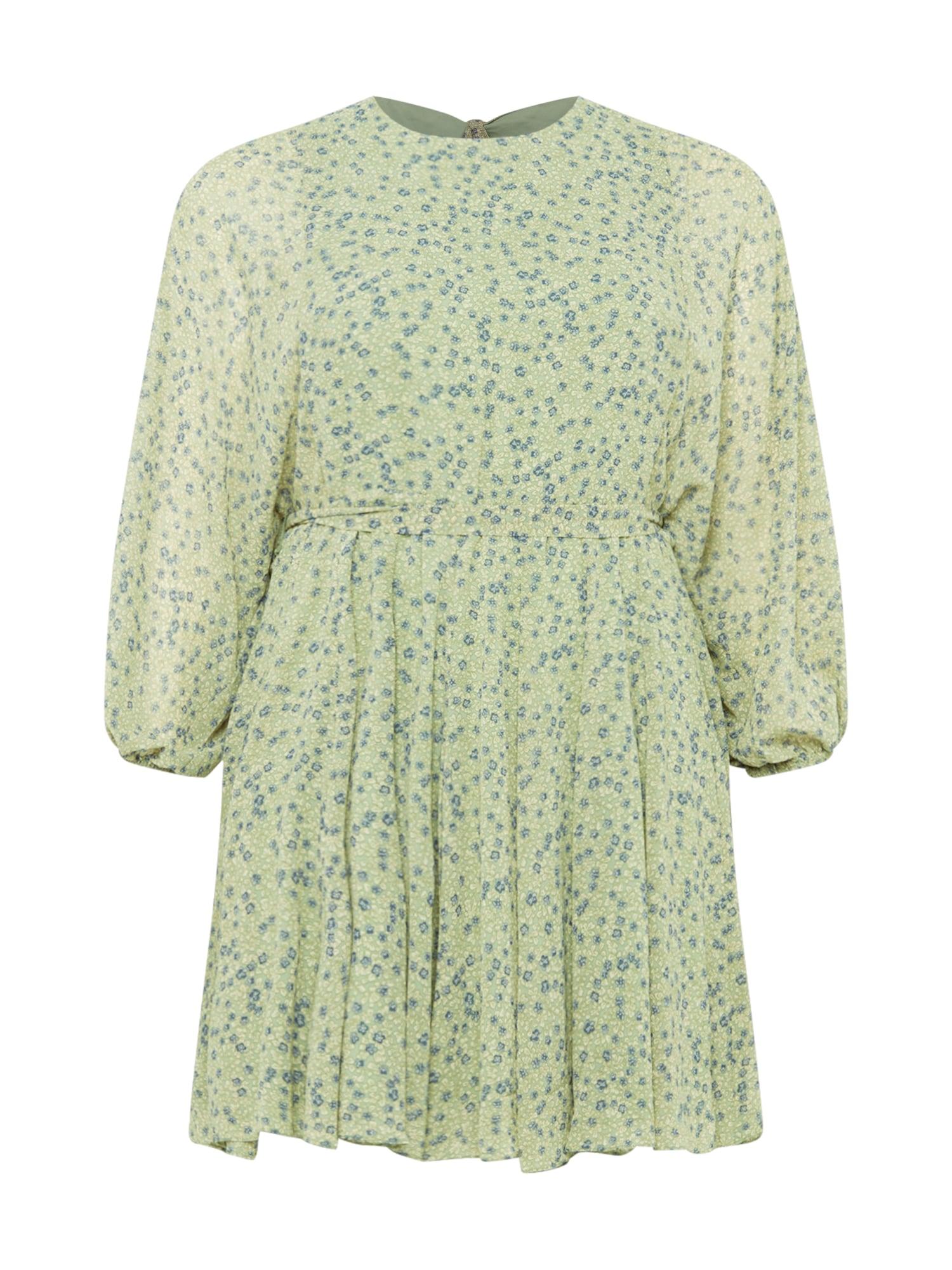 Forever New Curve Suknelė šviesiai žalia / mėlyna dūmų spalva / balta