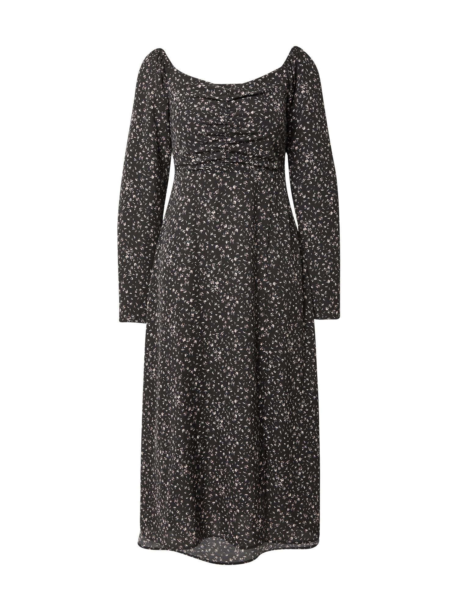 Rut & Circle Šaty 'CAROLINA'  černá / bílá