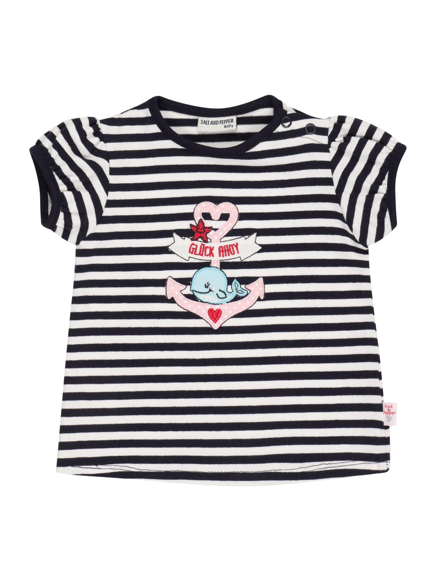 SALT AND PEPPER Marškinėliai tamsiai mėlyna / balta / rožių spalva / ugnies raudona / juoda