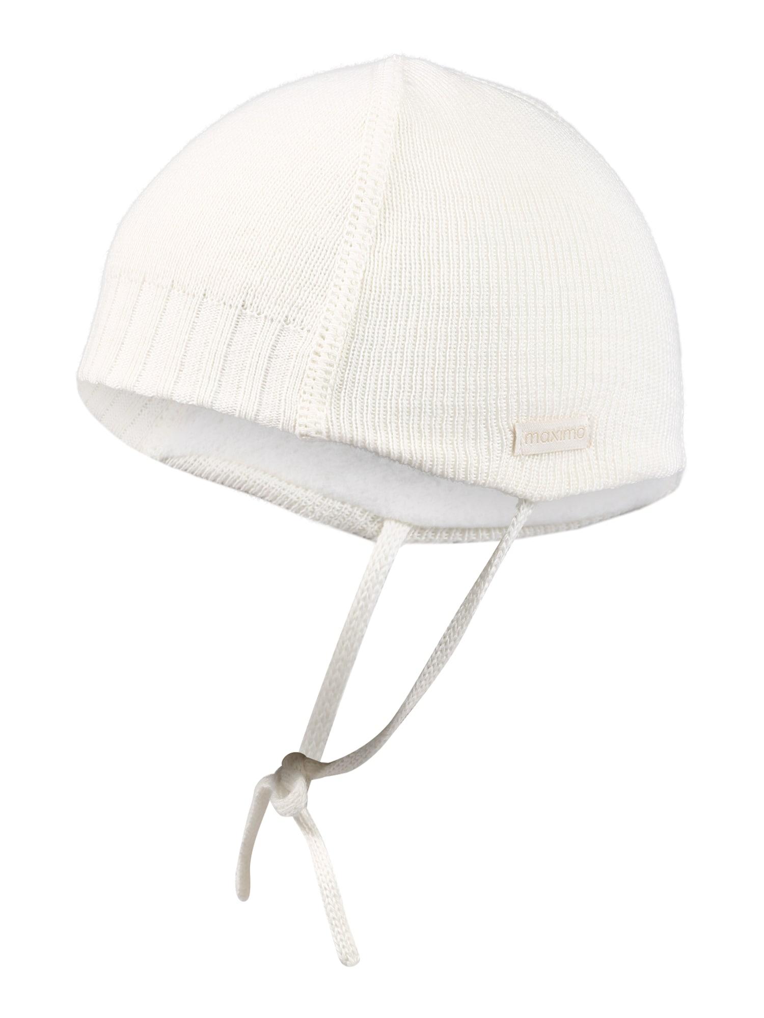 MAXIMO Megzta kepurė 'Sunni' vilnos balta