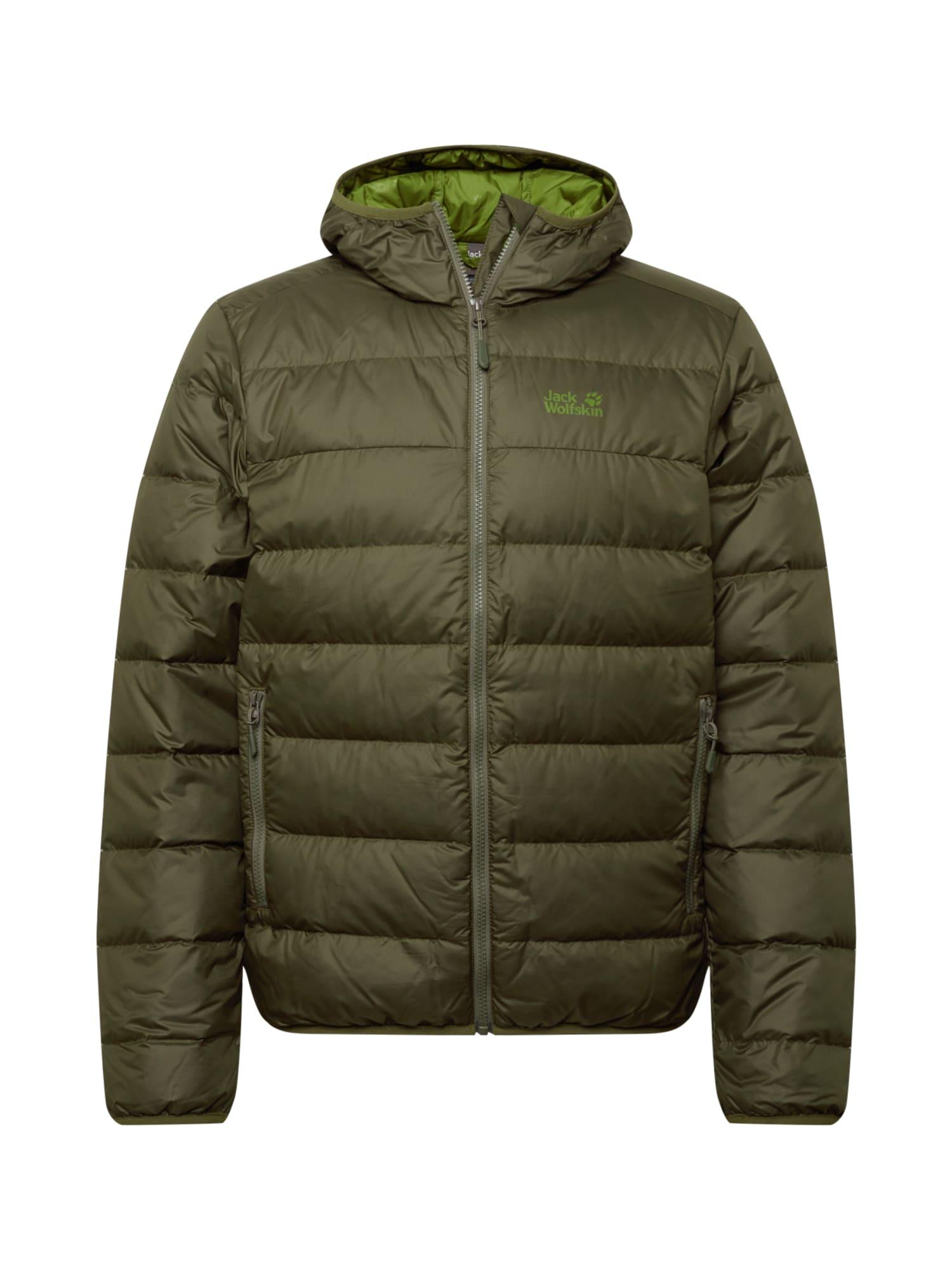 JACK WOLFSKIN Zimní bunda 'Helium'  světle zelená / khaki