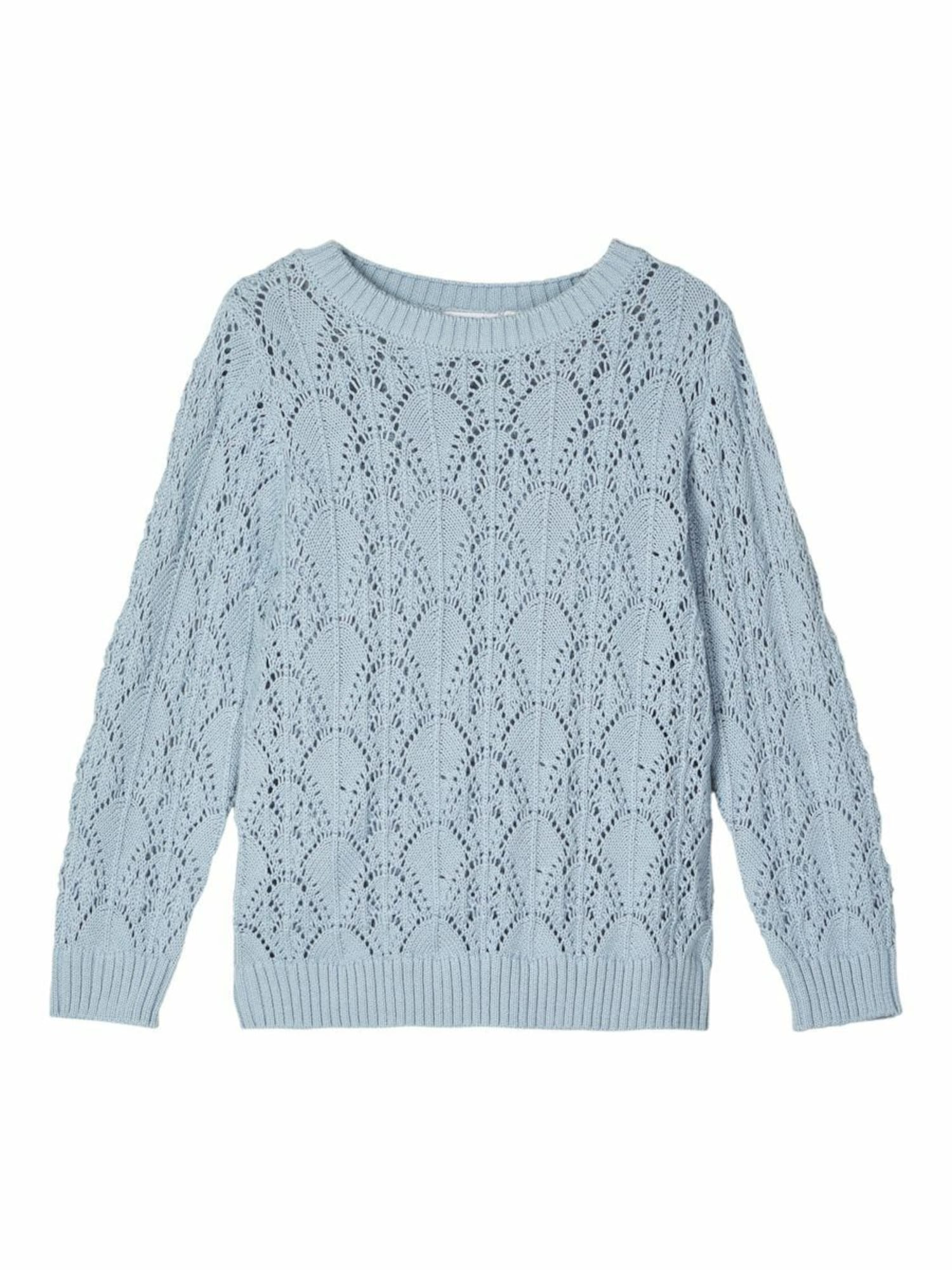 NAME IT Megztinis 'NMFTEMOLLY LS KNIT' mėlyna