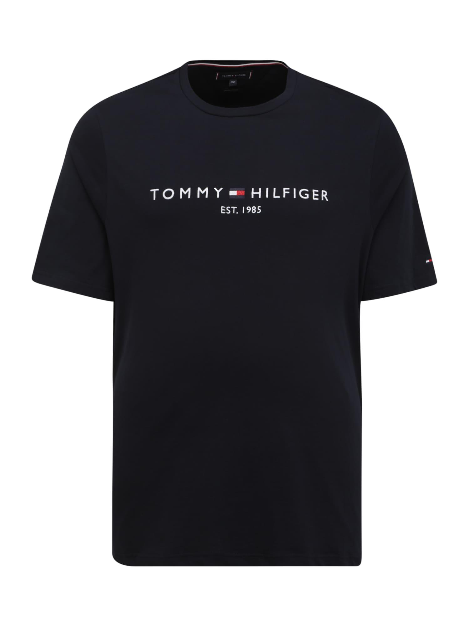 Tommy Hilfiger Big & Tall Marškinėliai tamsiai mėlyna jūros spalva / balta / raudona
