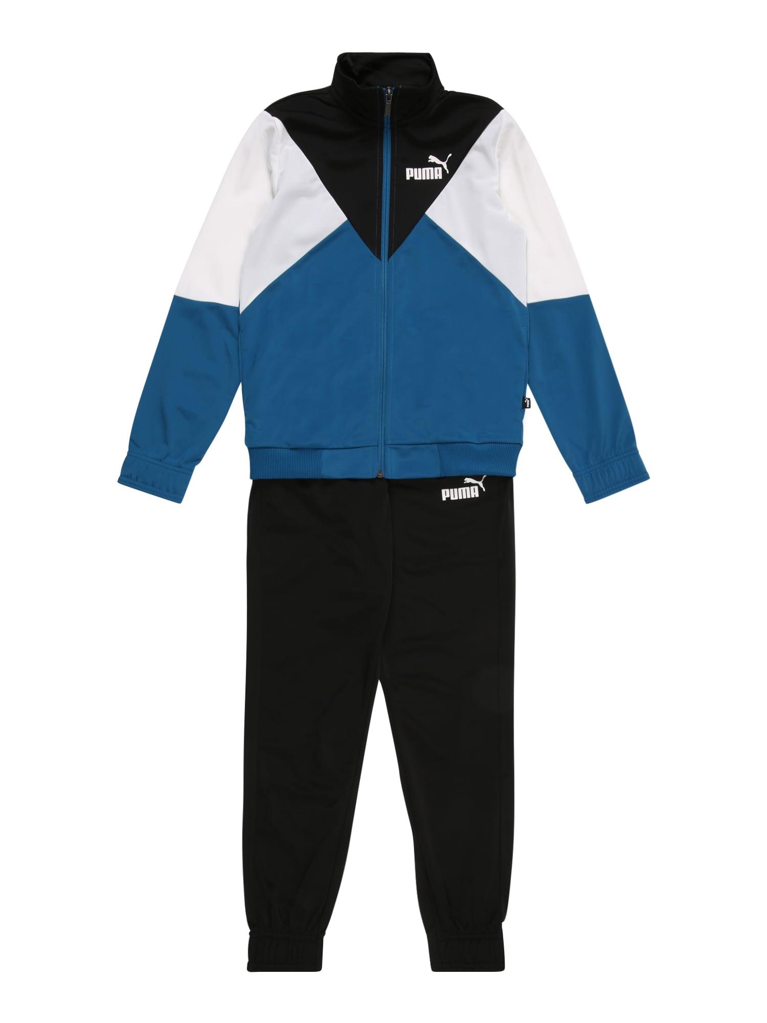 PUMA Treniruočių kostiumas 'Rebel' mėlyna / balta / juoda