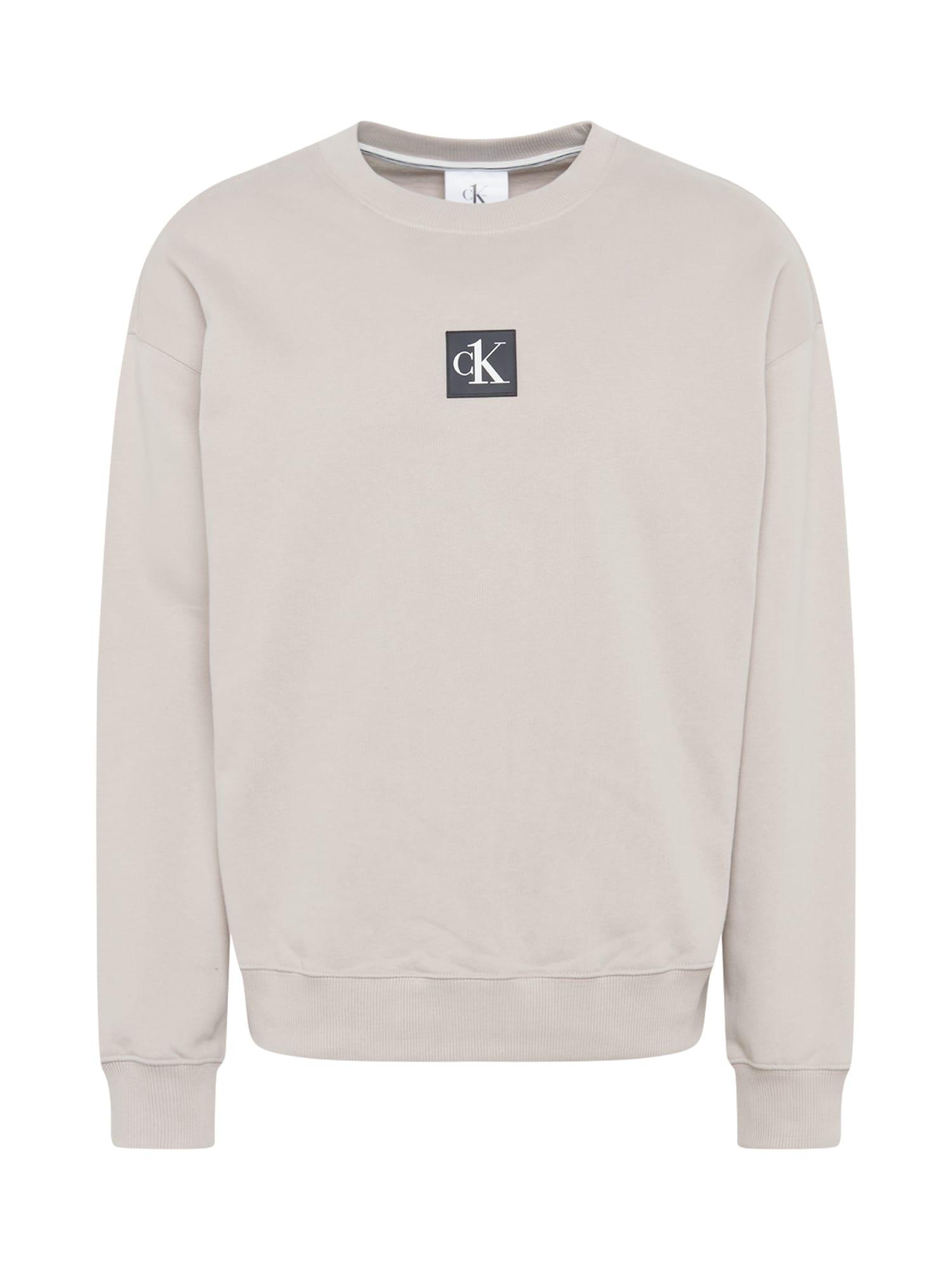 Calvin Klein Jeans Mikina  světle šedá / bílá / antracitová