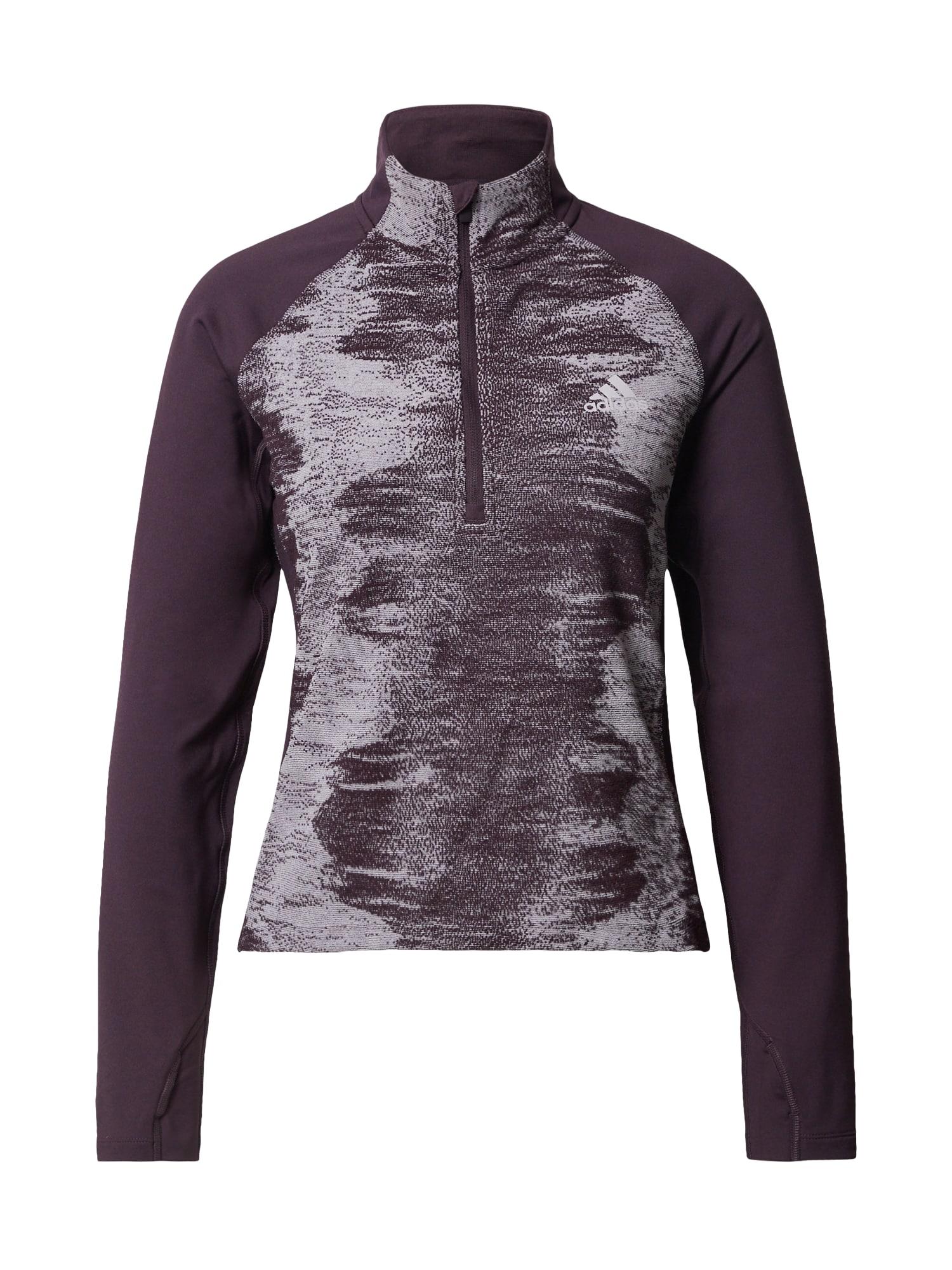 ADIDAS PERFORMANCE Sportinio tipo megztinis uogų spalva / pastelinė violetinė