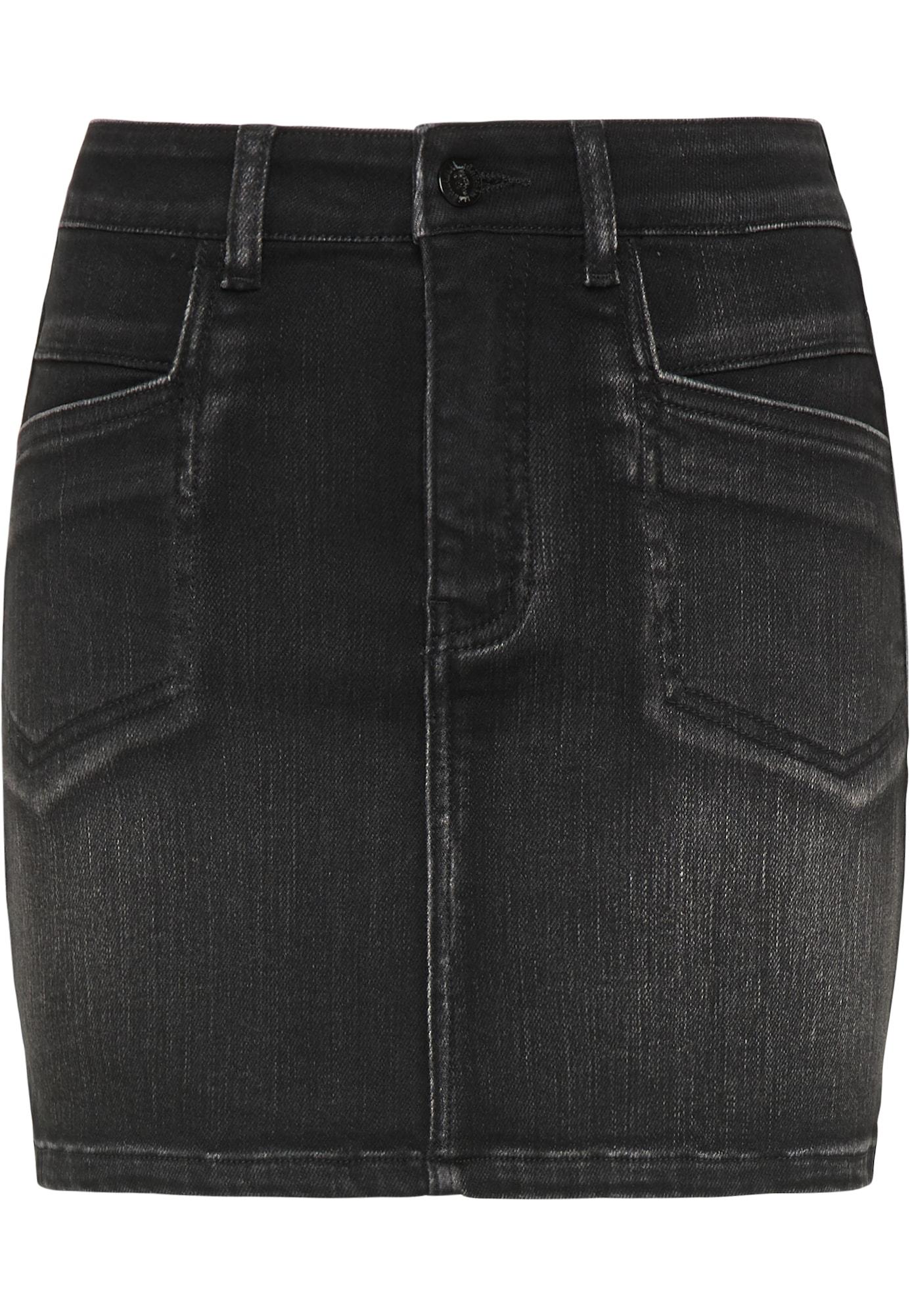myMo ROCKS Sijonas juodo džinso spalva