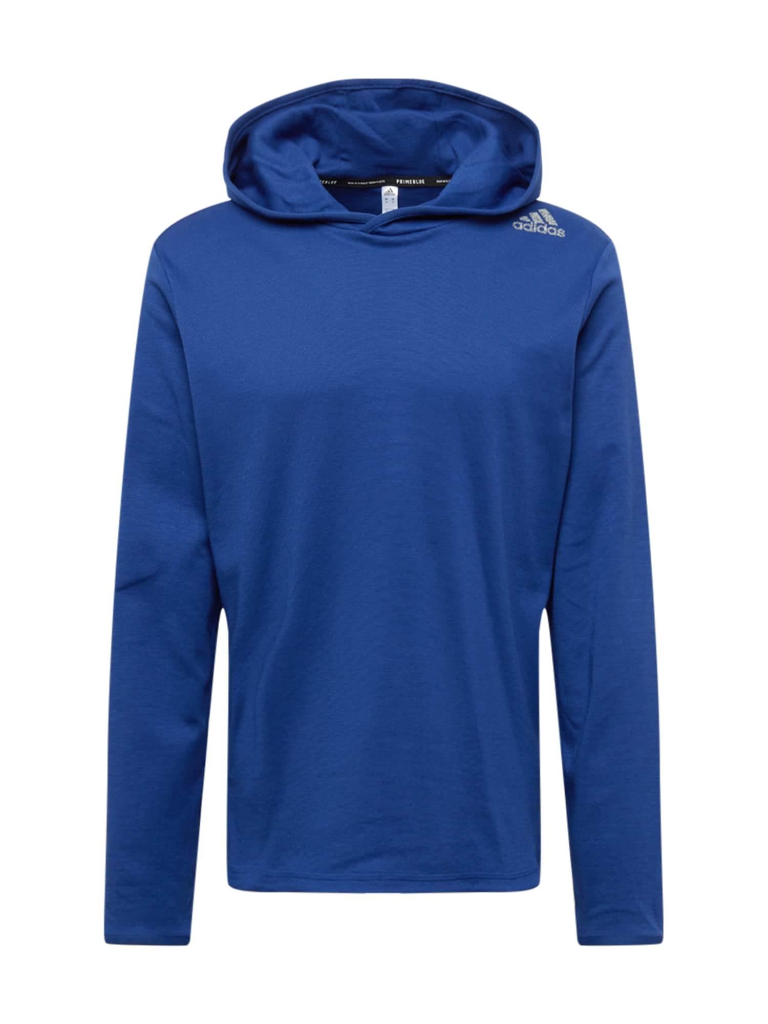 ADIDAS PERFORMANCE Sportovní mikina  královská modrá / bílá