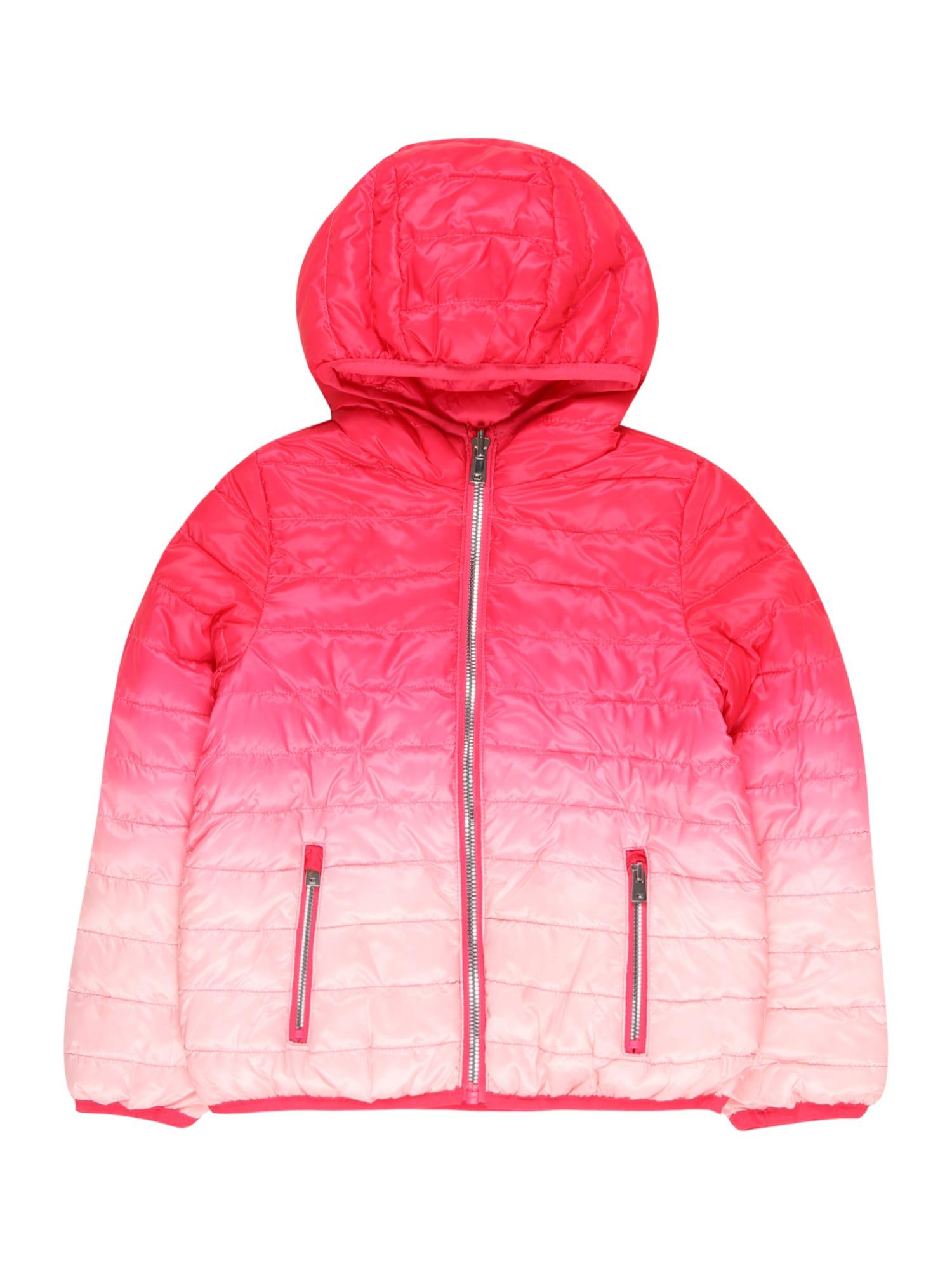 OVS Demisezoninė striukė spanguolių spalva / melionų spalva / pastelinė rožinė