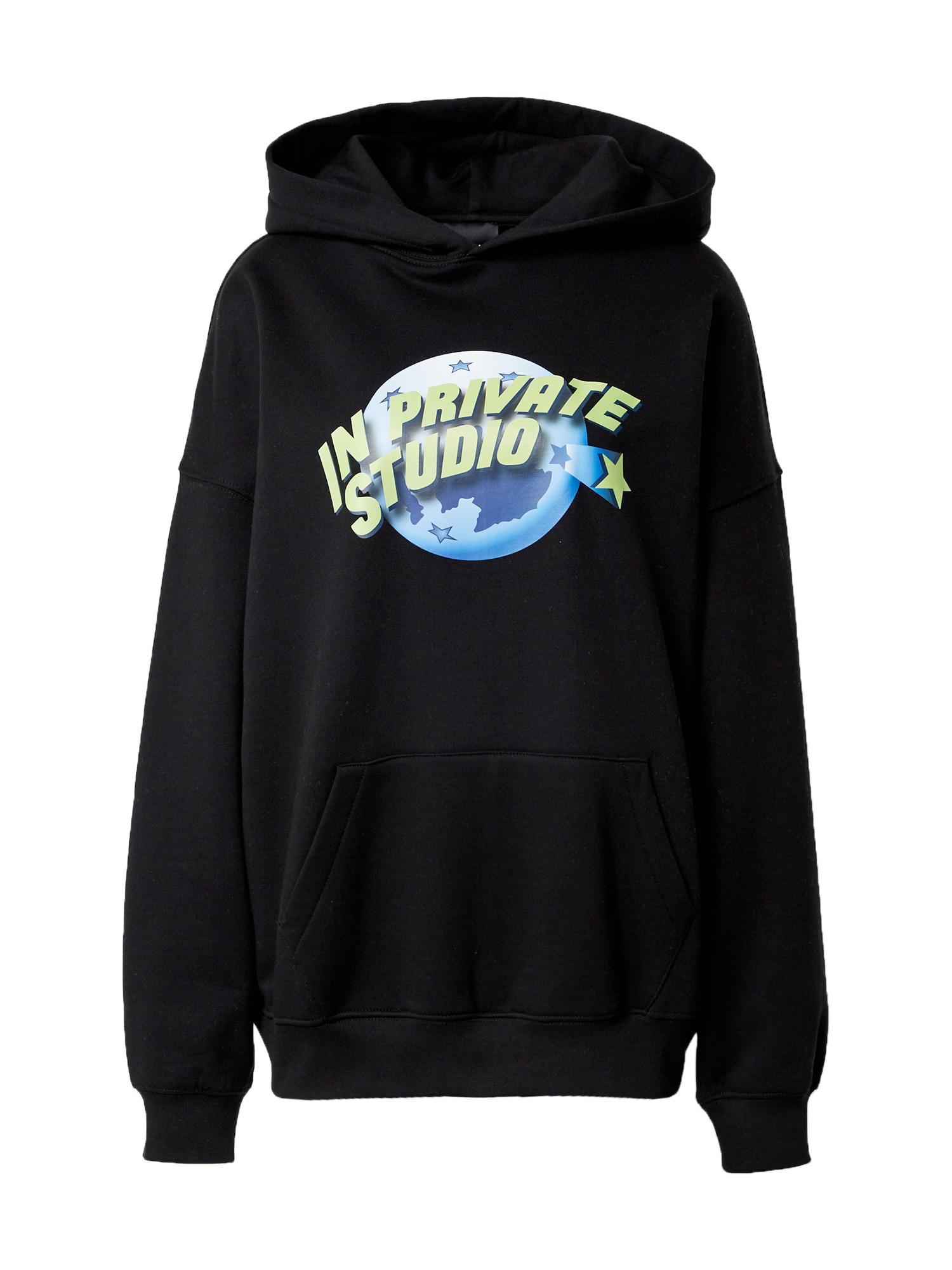 IN PRIVATE Studio Megztinis be užsegimo juoda / mėlyna / obuolių spalva