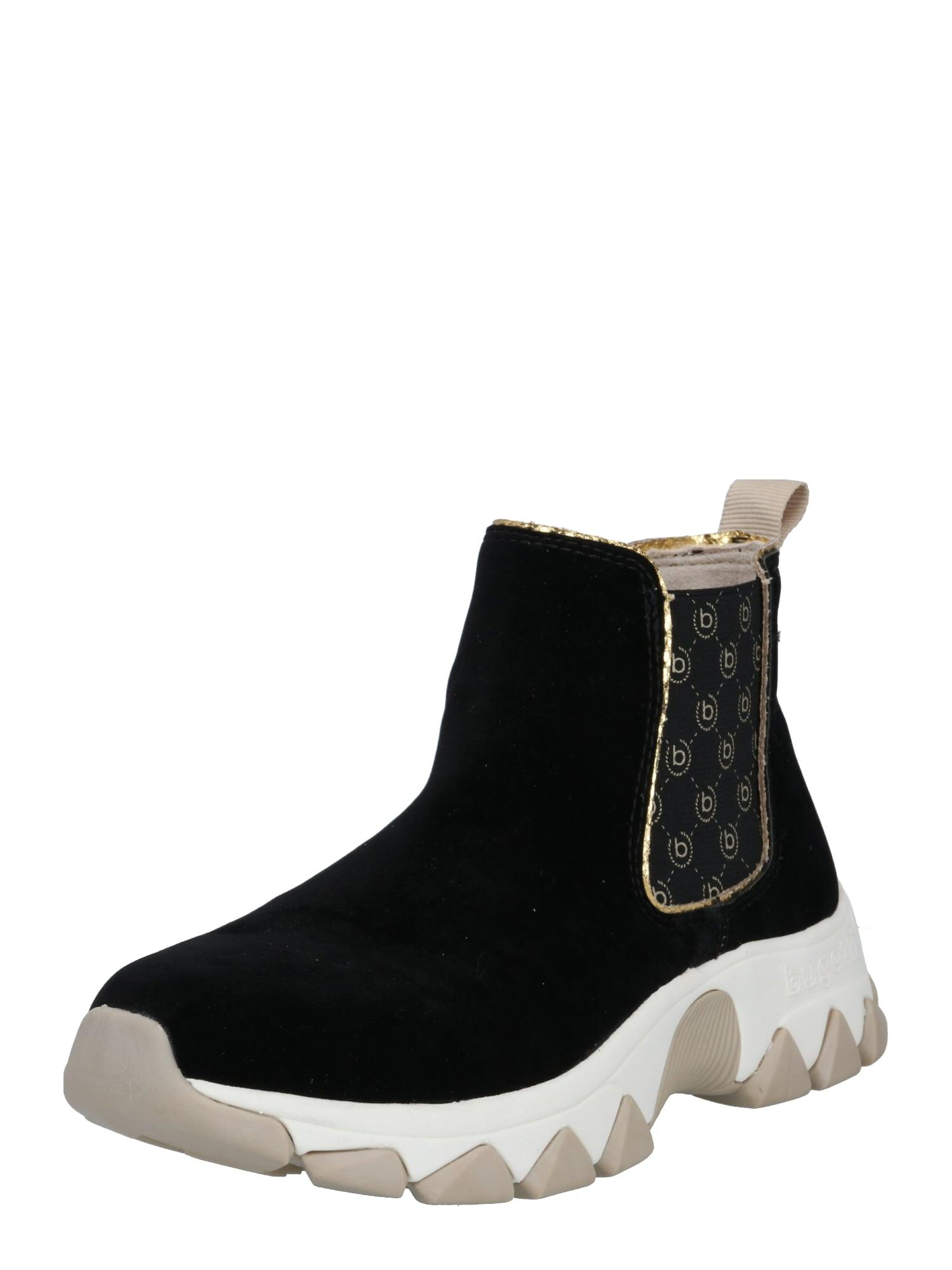 bugatti Chelsea boty 'Yuki'  zlatá / černá