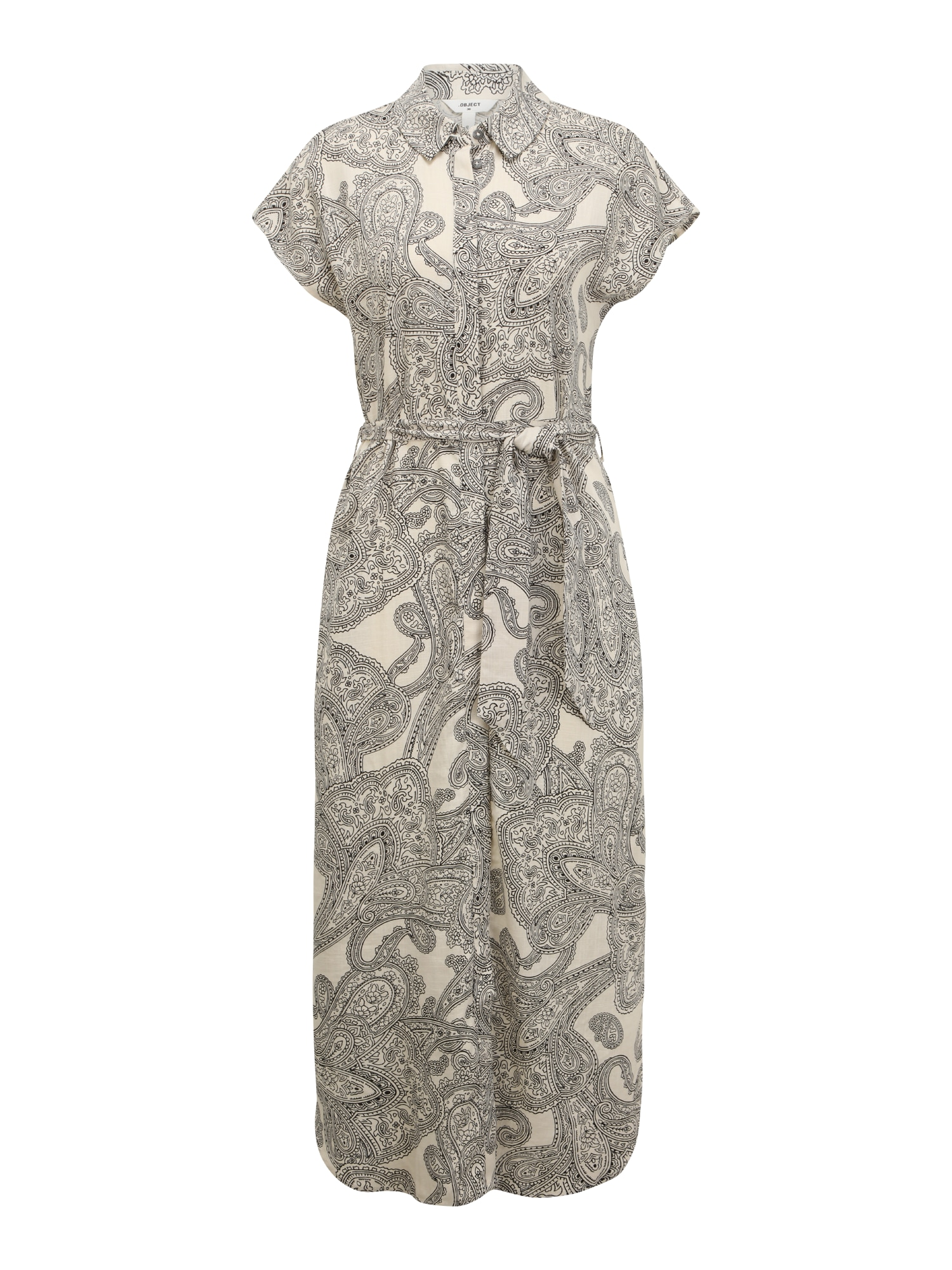 OBJECT Tall Palaidinės tipo suknelė smėlio spalva / juoda