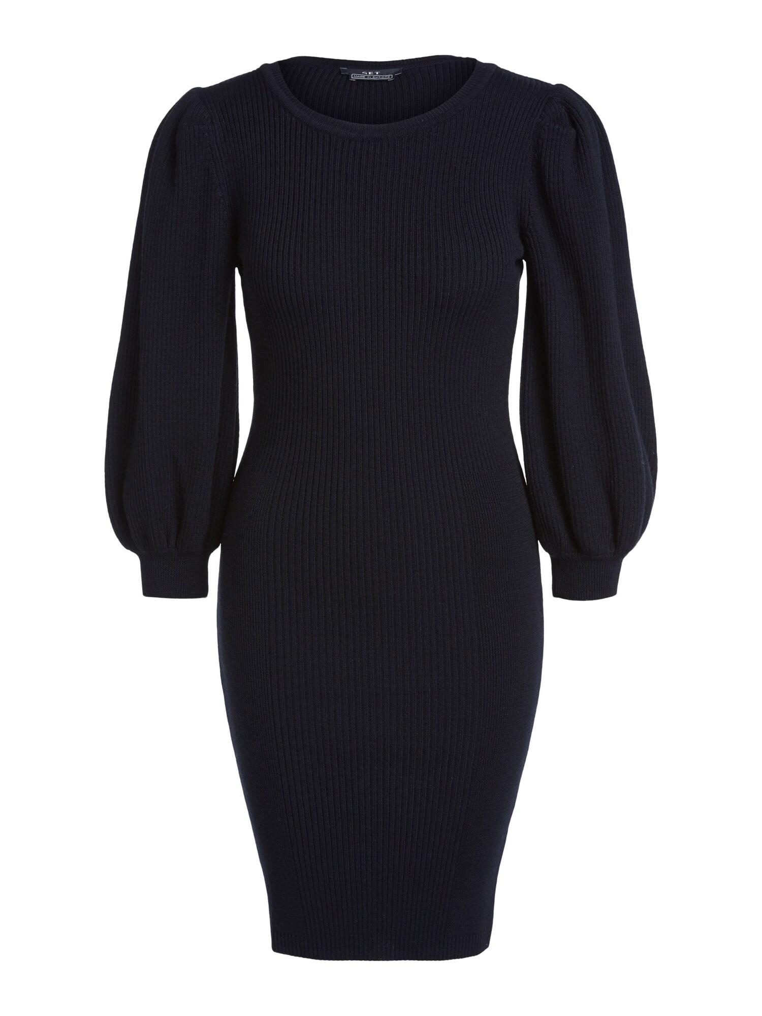 SET Megzta suknelė juoda