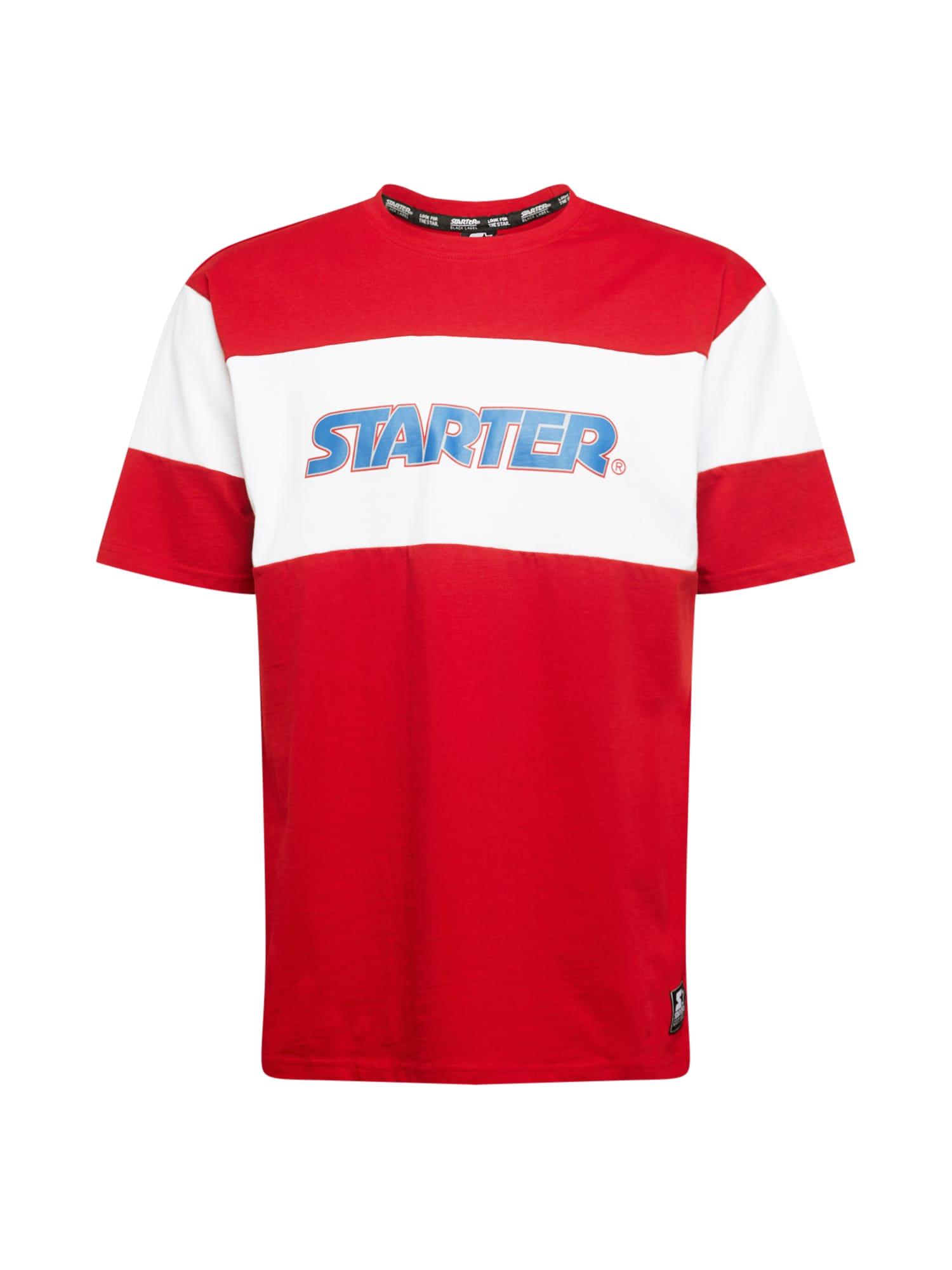 Starter Black Label Marškinėliai balta / raudona / mėlyna