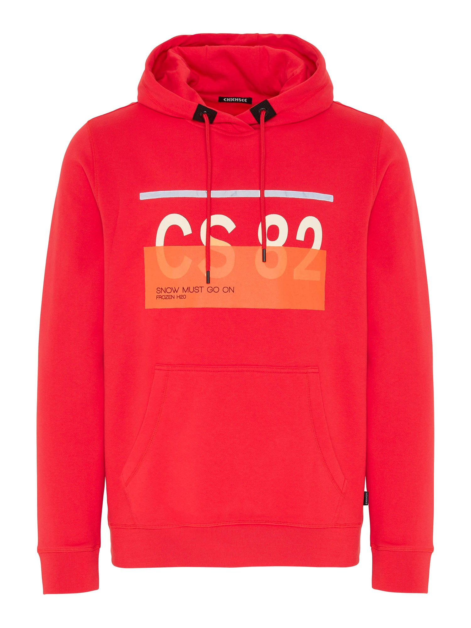 CHIEMSEE Sportovní mikina 'LOREDO'  červená / bílá / oranžová