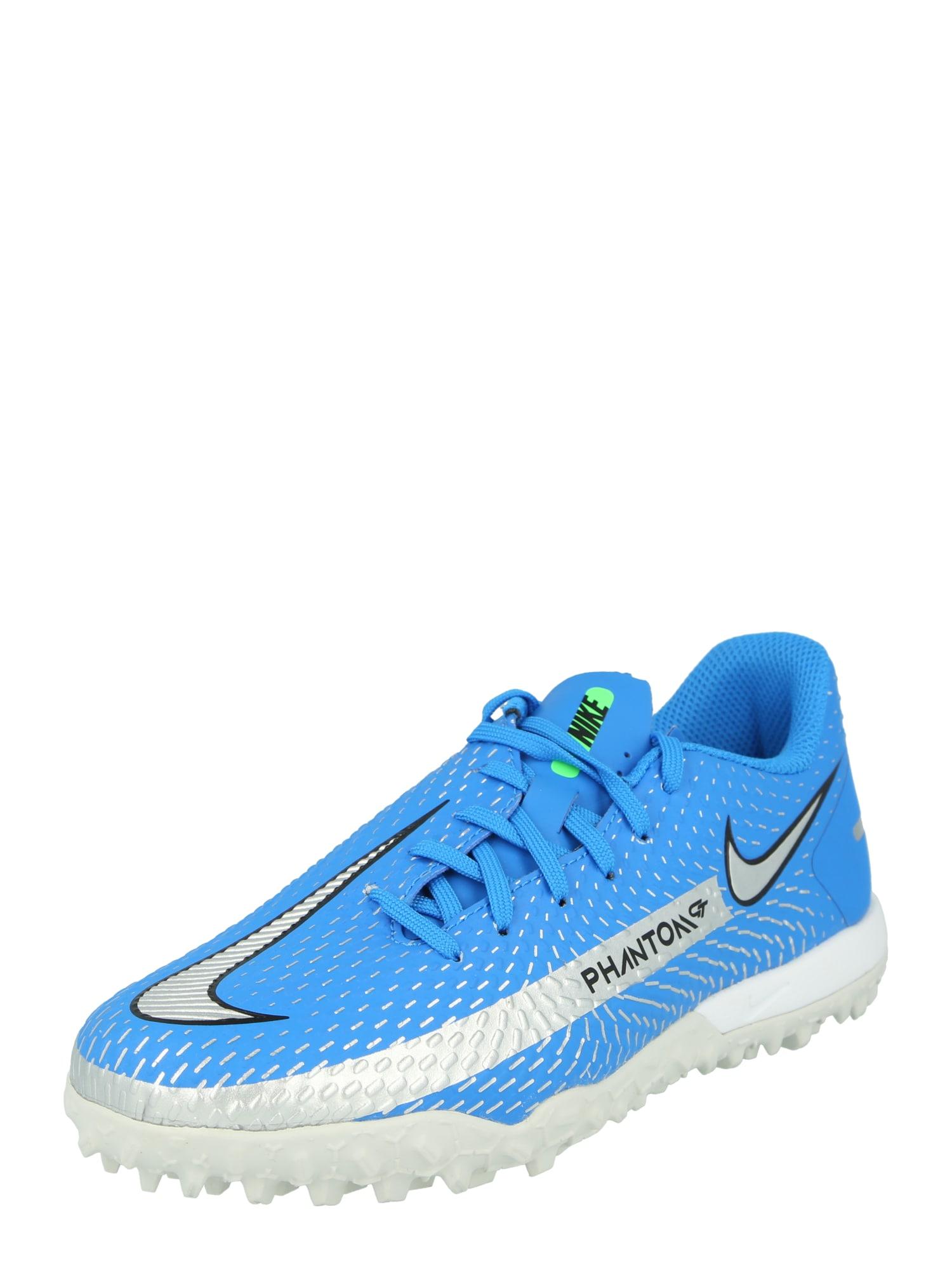 NIKE Sportiniai batai dangaus žydra / sidabro pilka / juoda